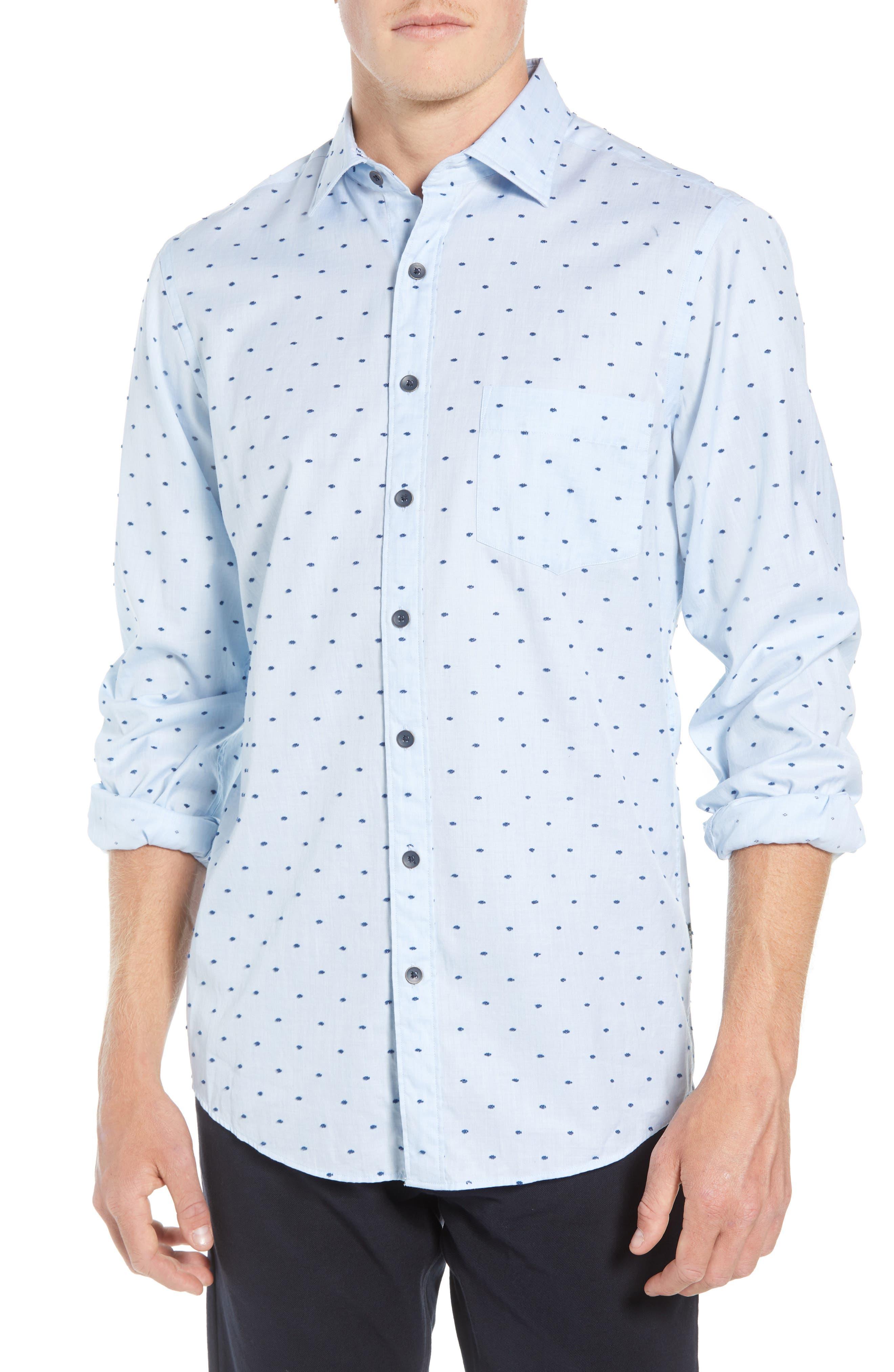 Fraser Road Regular Fit Dot Sport Shirt,                         Main,                         color, 459