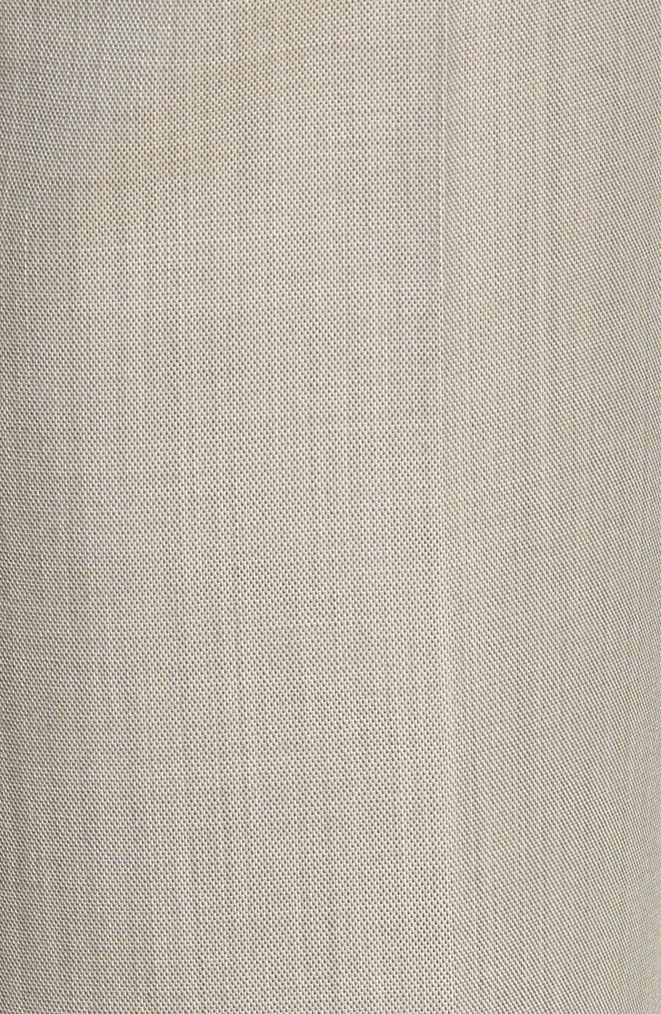 Flat Front Sharkskin Wool Trousers,                             Alternate thumbnail 5, color,                             SAND