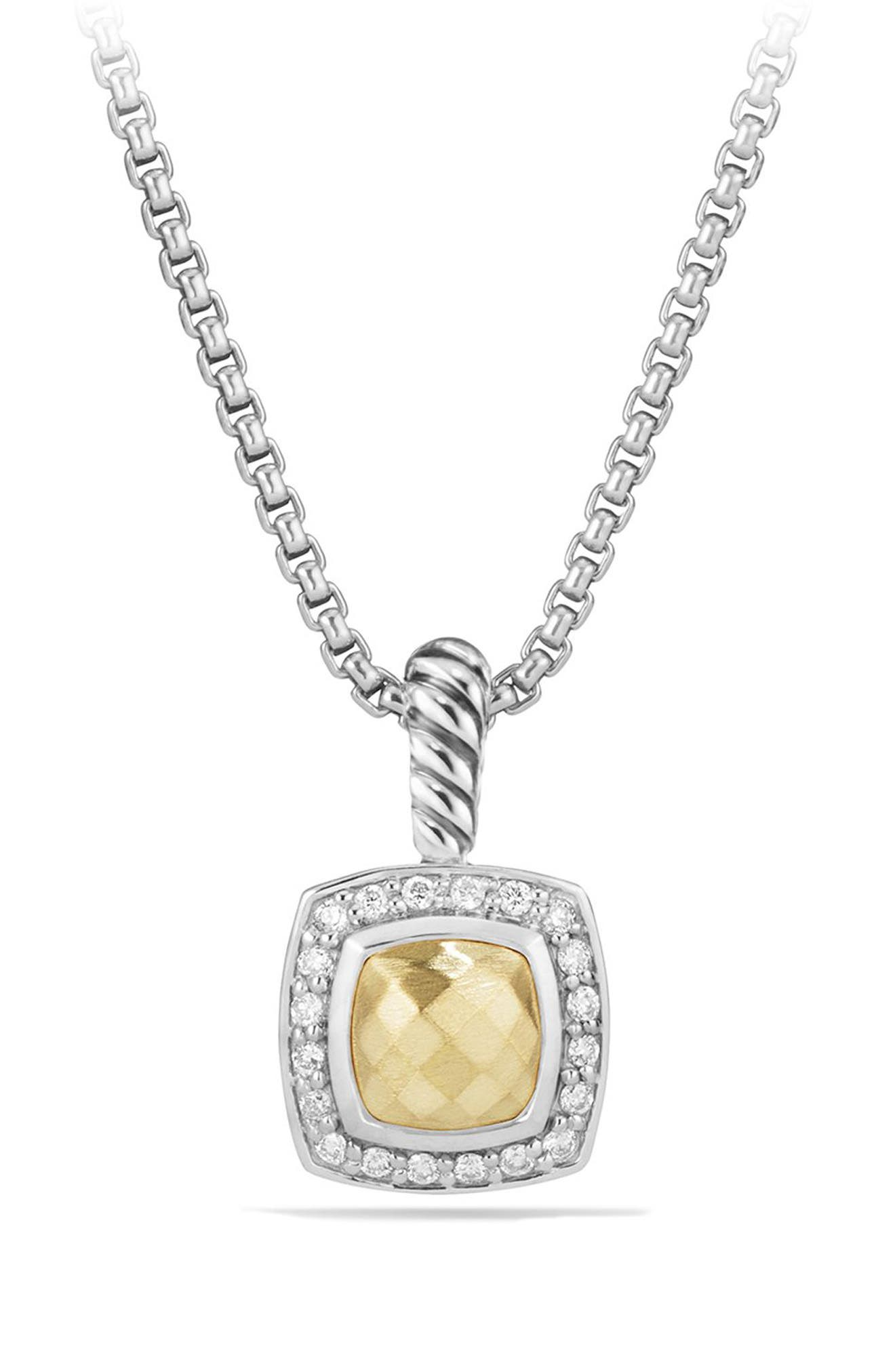 Petite Albion<sup>®</sup> Pendant Necklace with Diamonds,                         Main,                         color, SILVER/ GOLD
