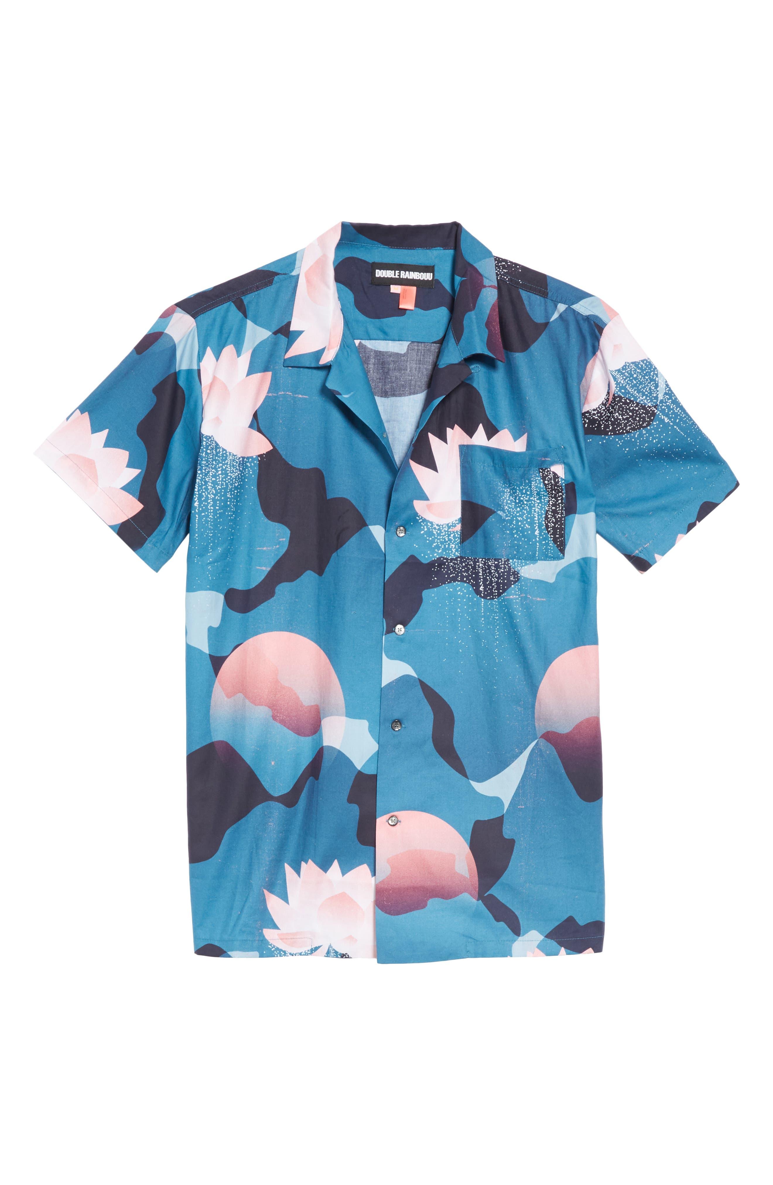 Kyoto Song Camp Shirt,                             Alternate thumbnail 6, color,                             BLUE