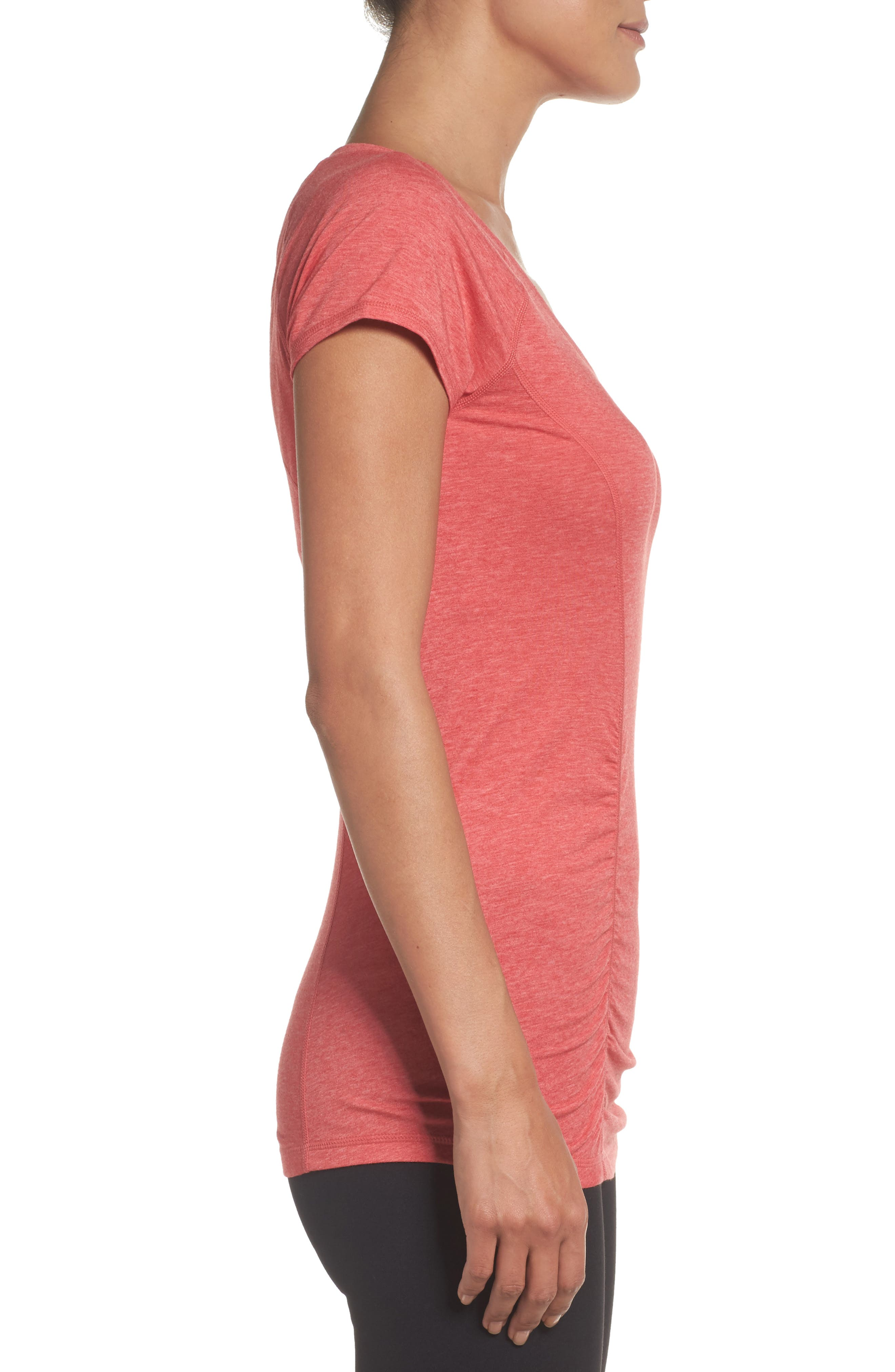 'Z 6' Ruched Tee,                             Alternate thumbnail 47, color,