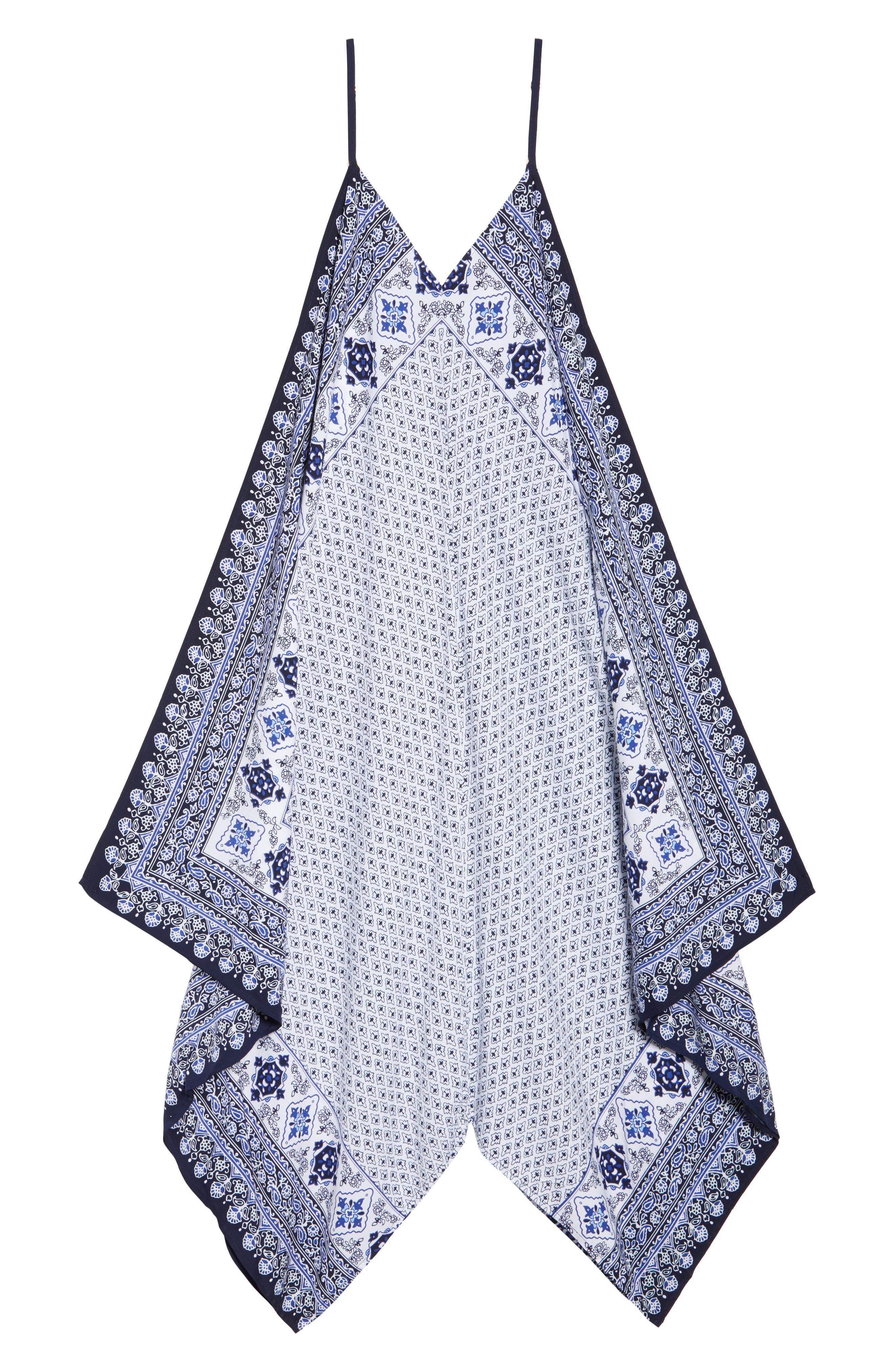 Border Print Cover-Up Maxi Dress,                             Alternate thumbnail 6, color,                             400
