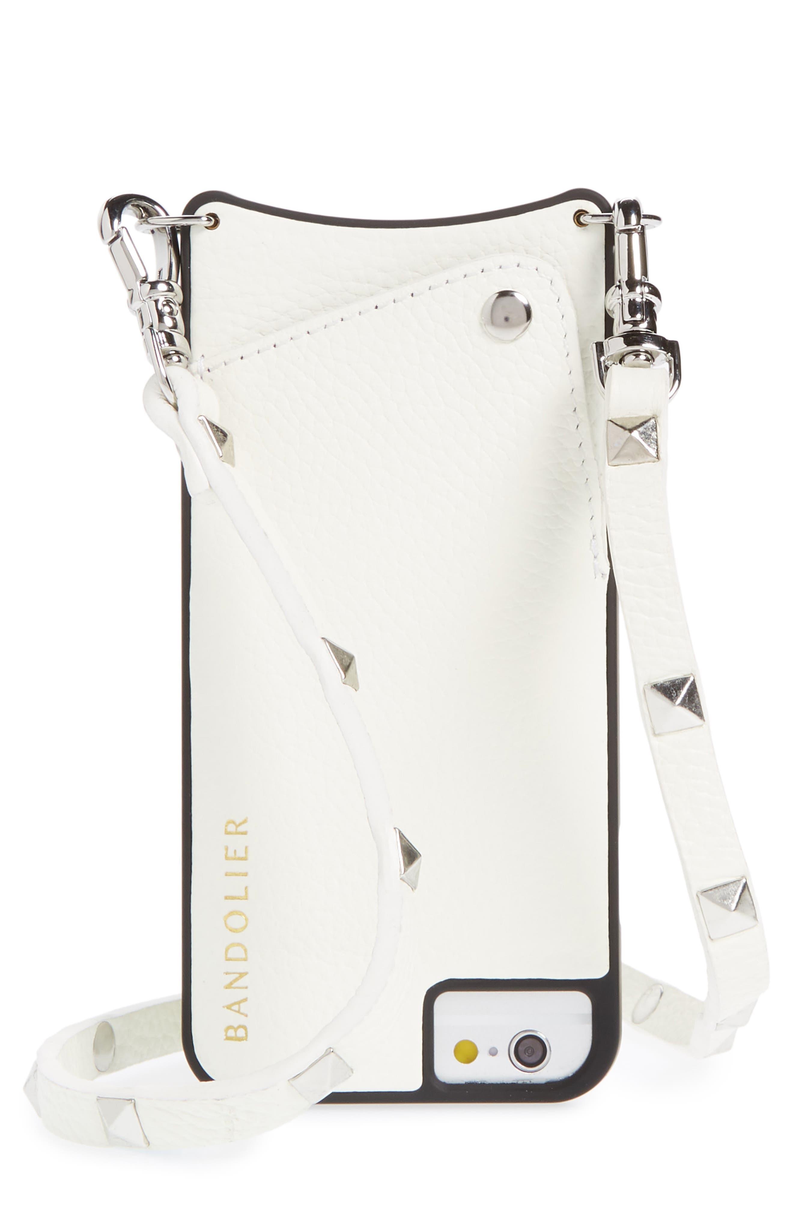 Sarah Leather iPhone 6/7/8 & 6/7/8 Plus Crossbody Case,                         Main,                         color, 100