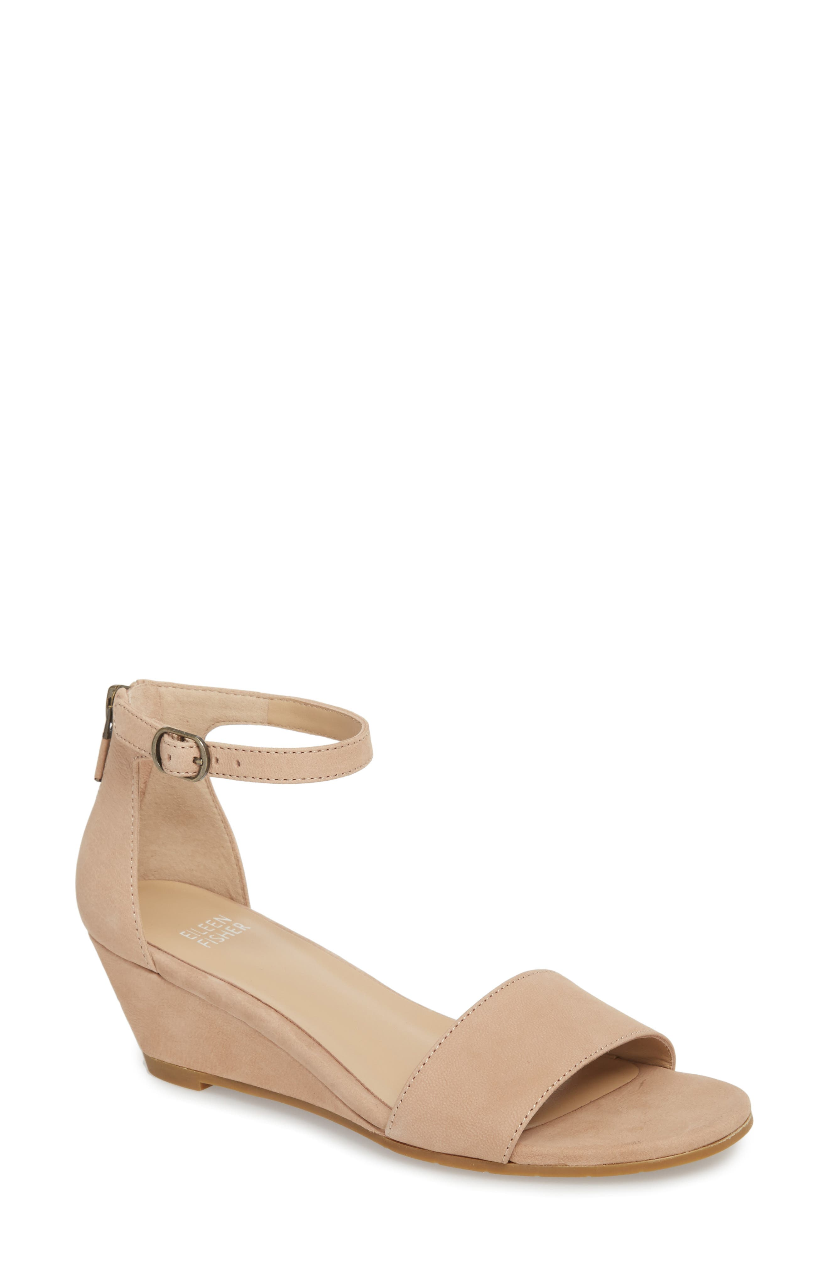 Mara Ankle Strap Wedge Sandal,                             Main thumbnail 3, color,