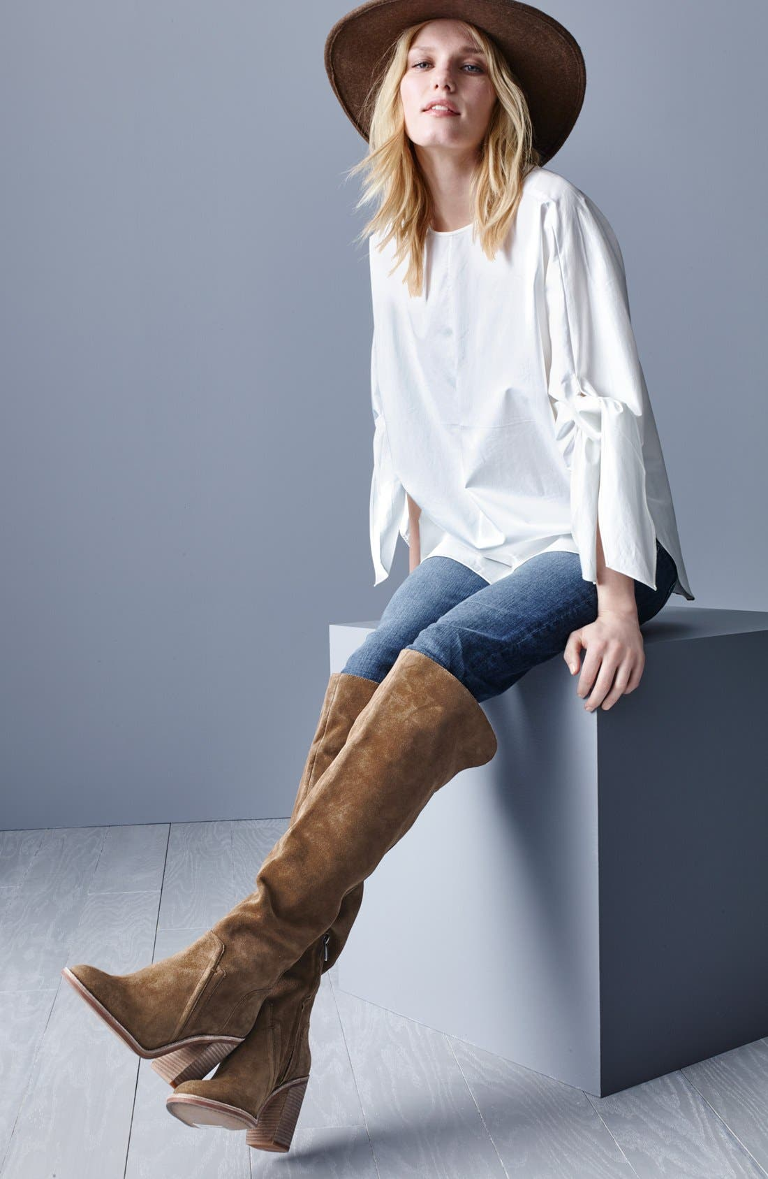 'Melaya' Over the Knee Boot,                             Alternate thumbnail 6, color,                             001
