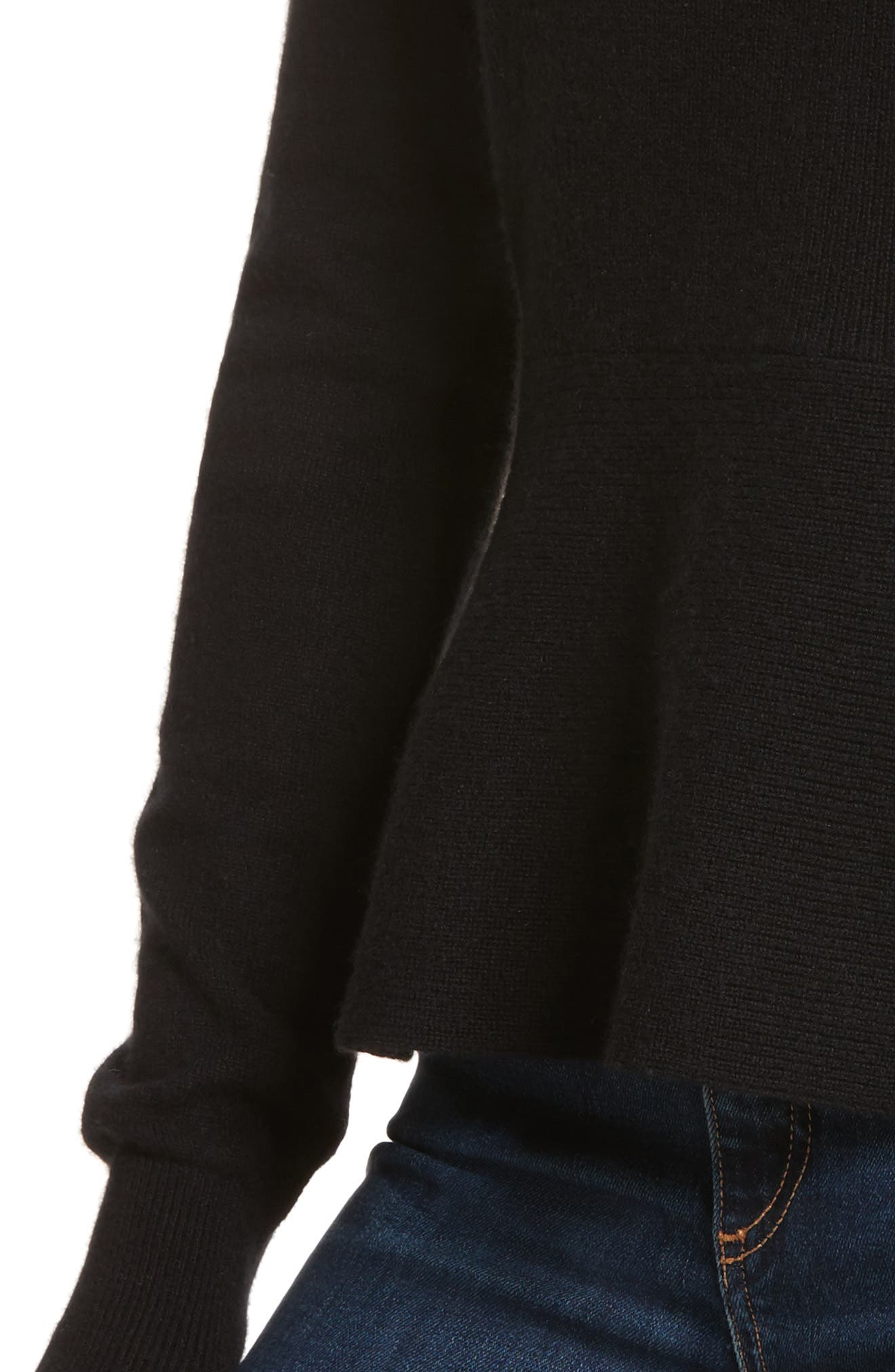 Raleigh Cashmere Peplum Sweater,                             Alternate thumbnail 10, color,