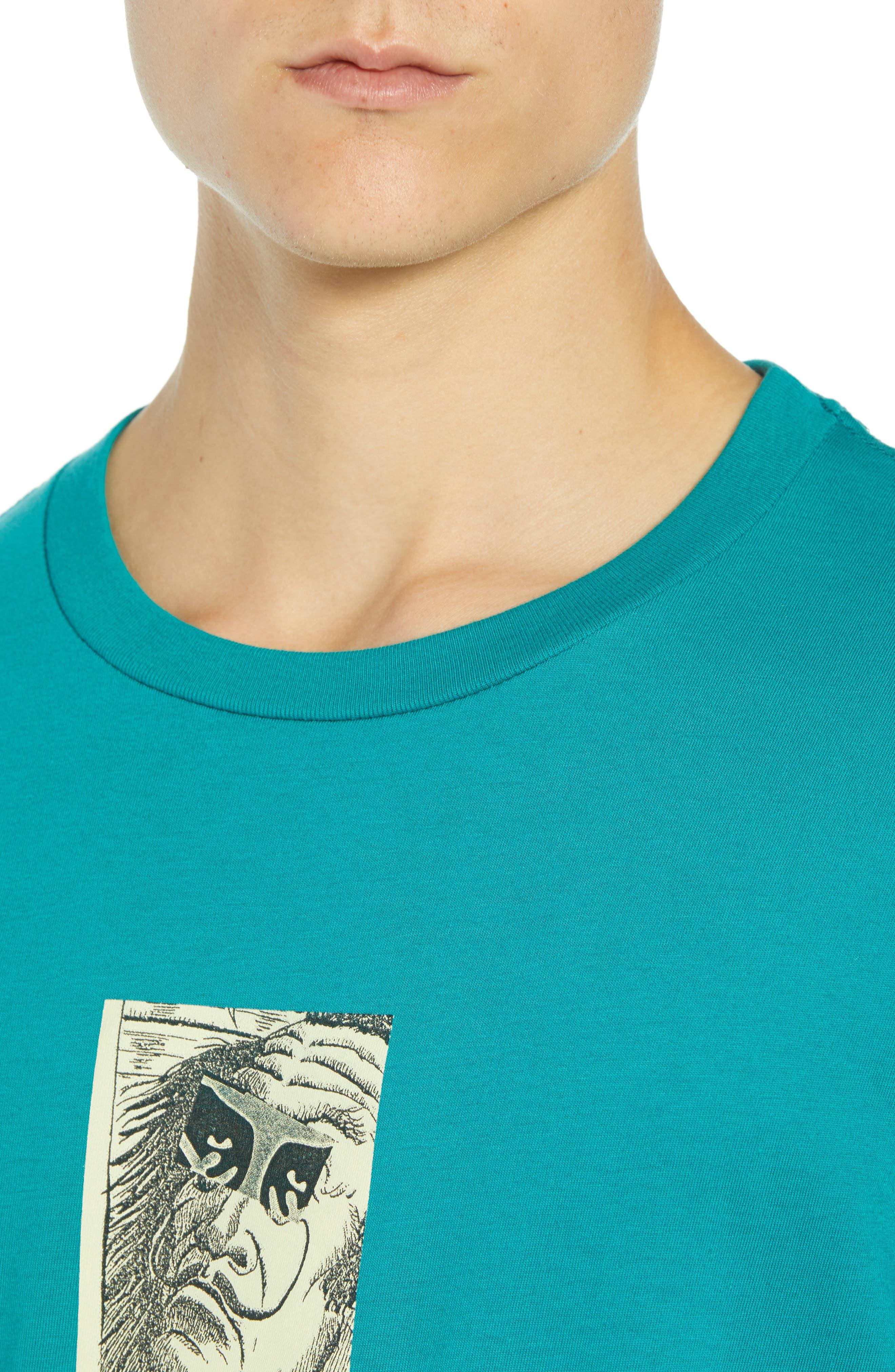 Metamorphosis Premium T-Shirt,                             Alternate thumbnail 4, color,                             TEAL