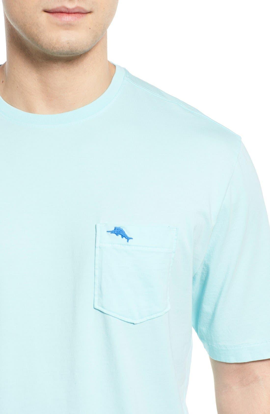 New Bali Sky Pima Cotton Pocket T-Shirt,                             Alternate thumbnail 108, color,