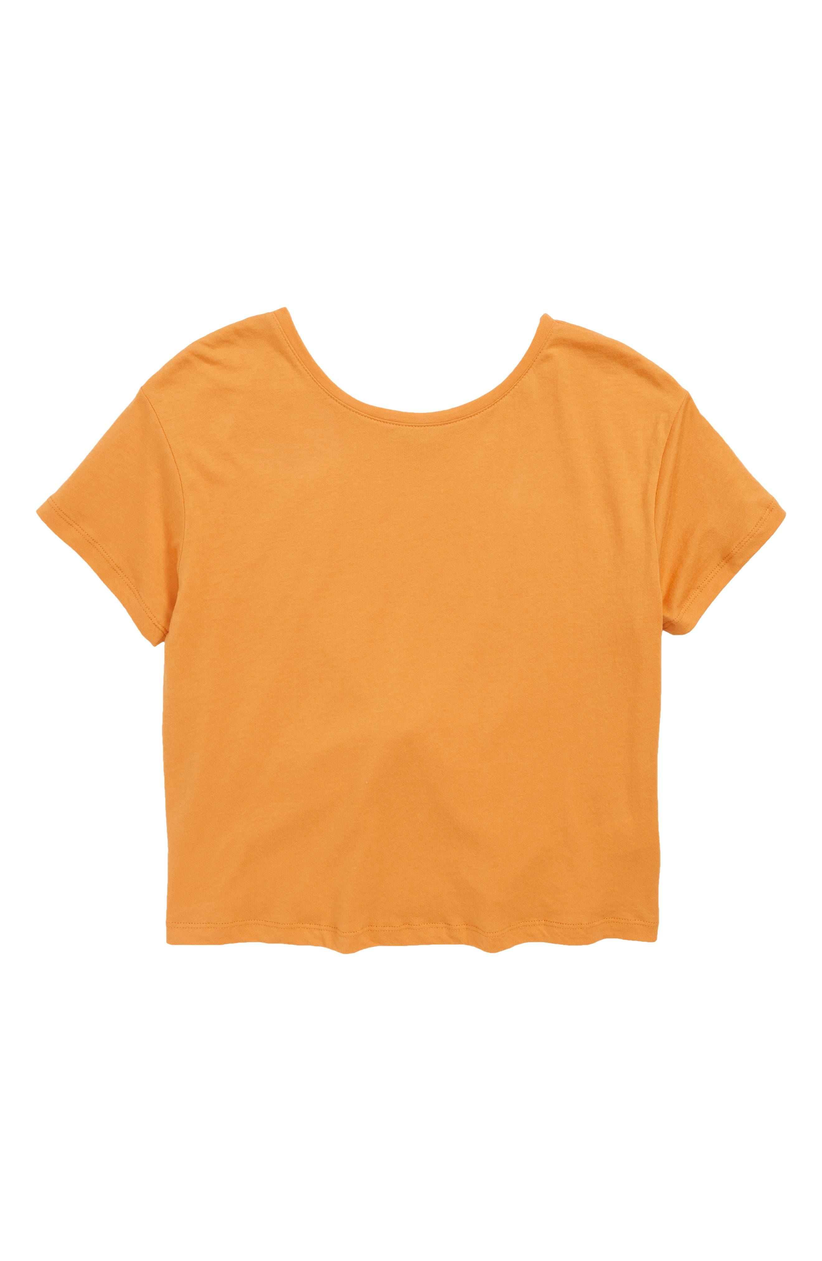 Jerrica Twist Back Top,                         Main,                         color, ORANGE