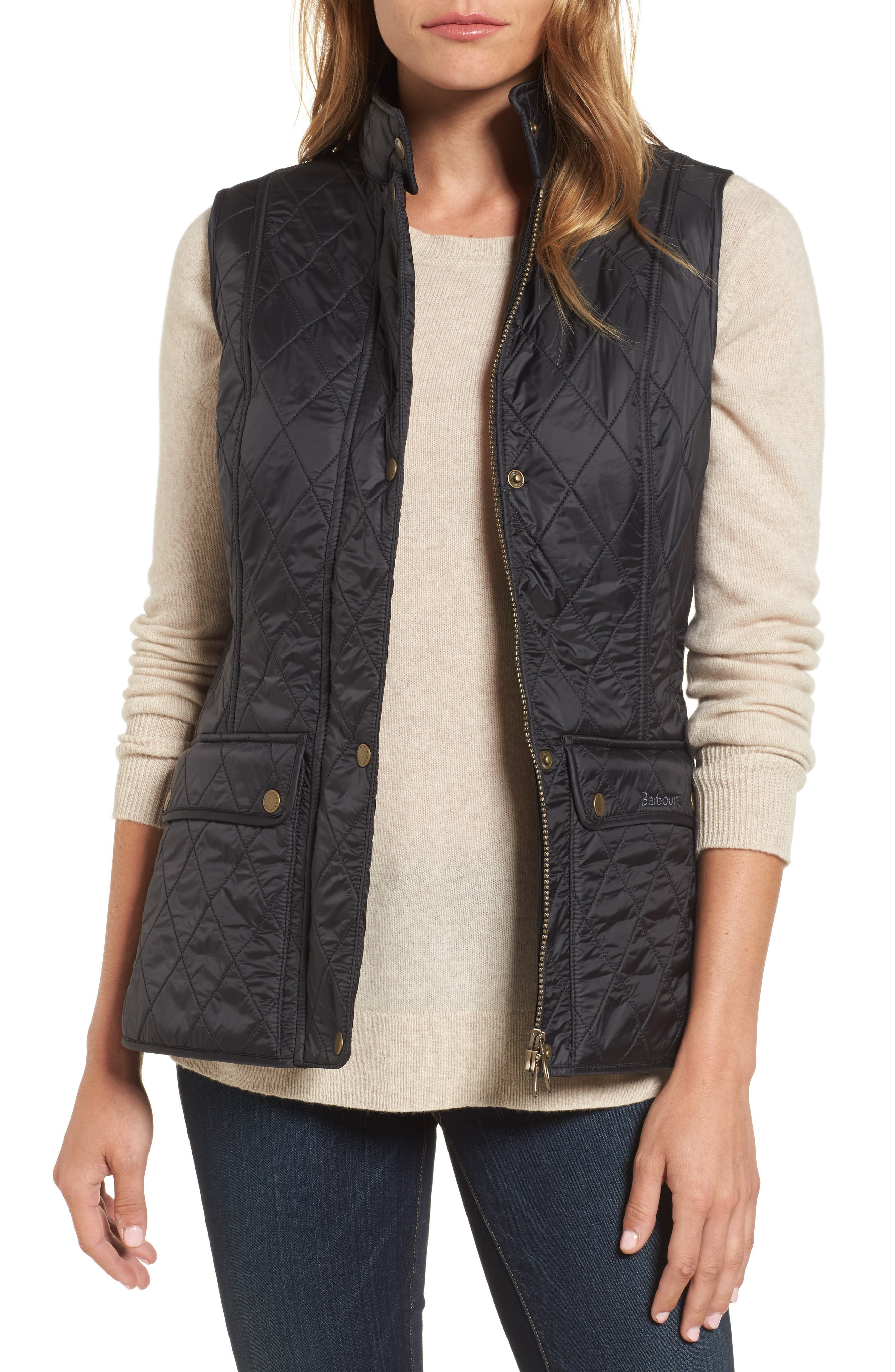 Wray Water Resistant Quilted Gilet,                             Main thumbnail 1, color,                             001