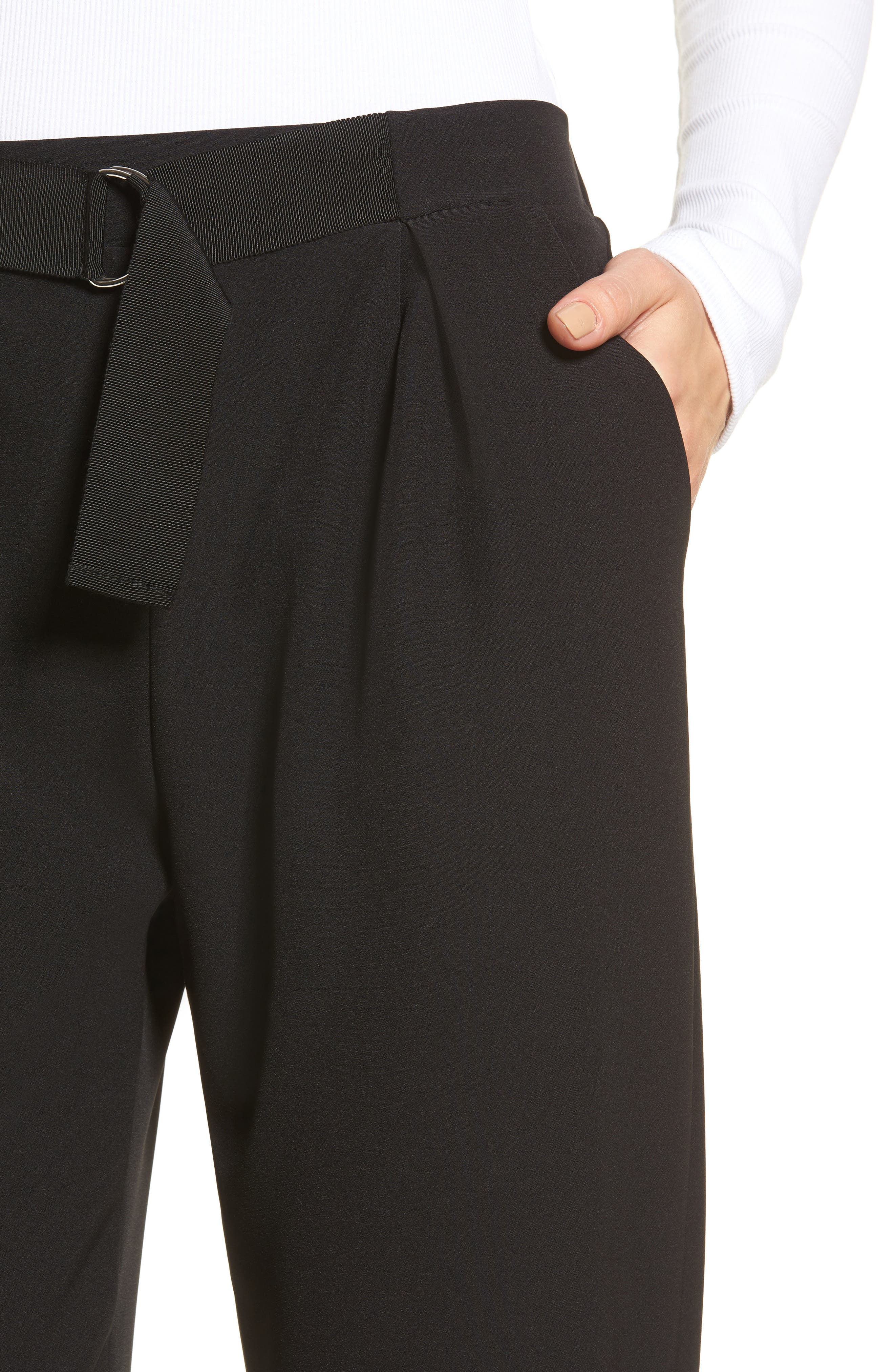 Tapered Trousers,                             Alternate thumbnail 4, color,                             001