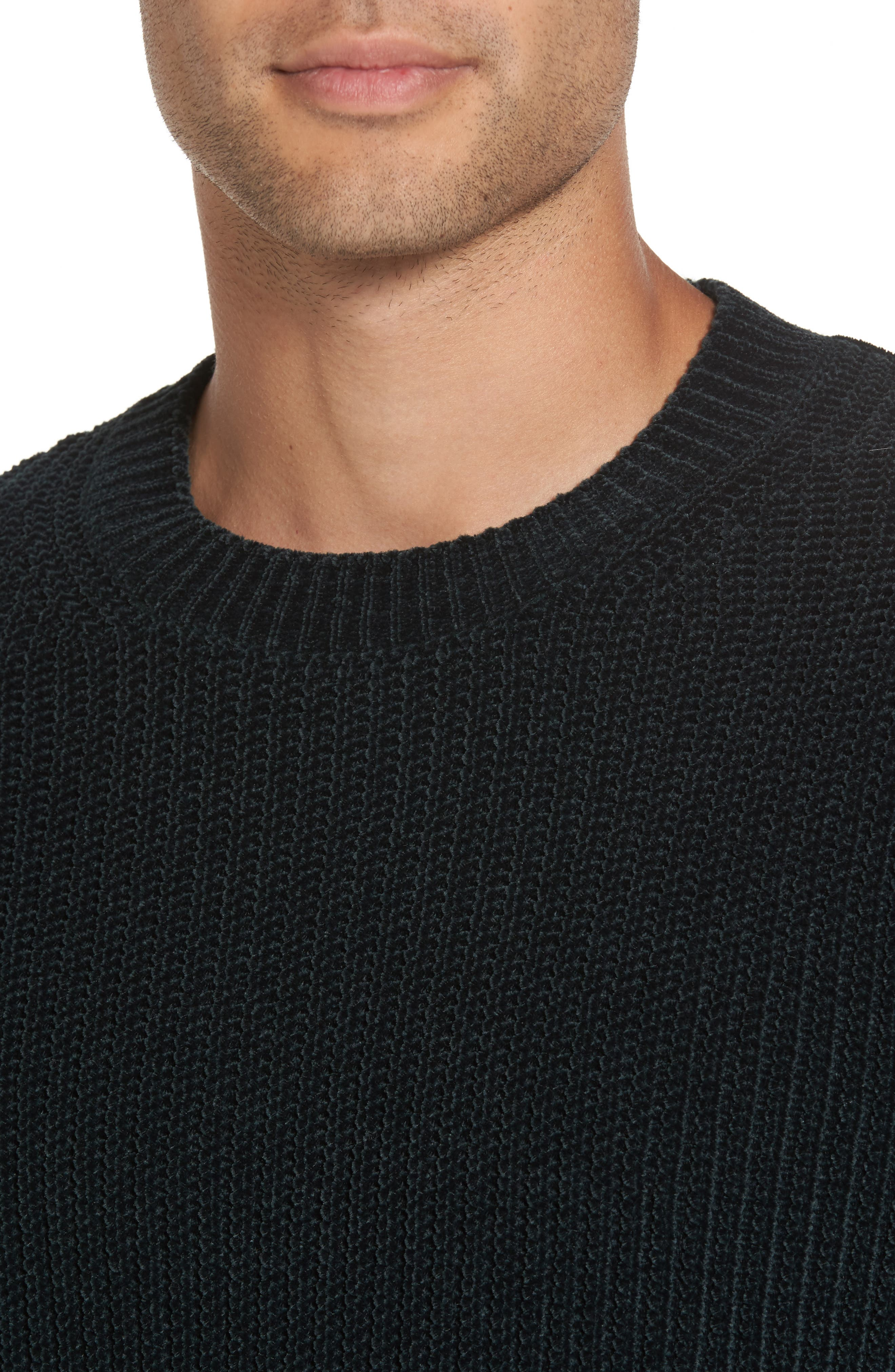 Ribbed Crewneck Sweater,                             Alternate thumbnail 4, color,                             357