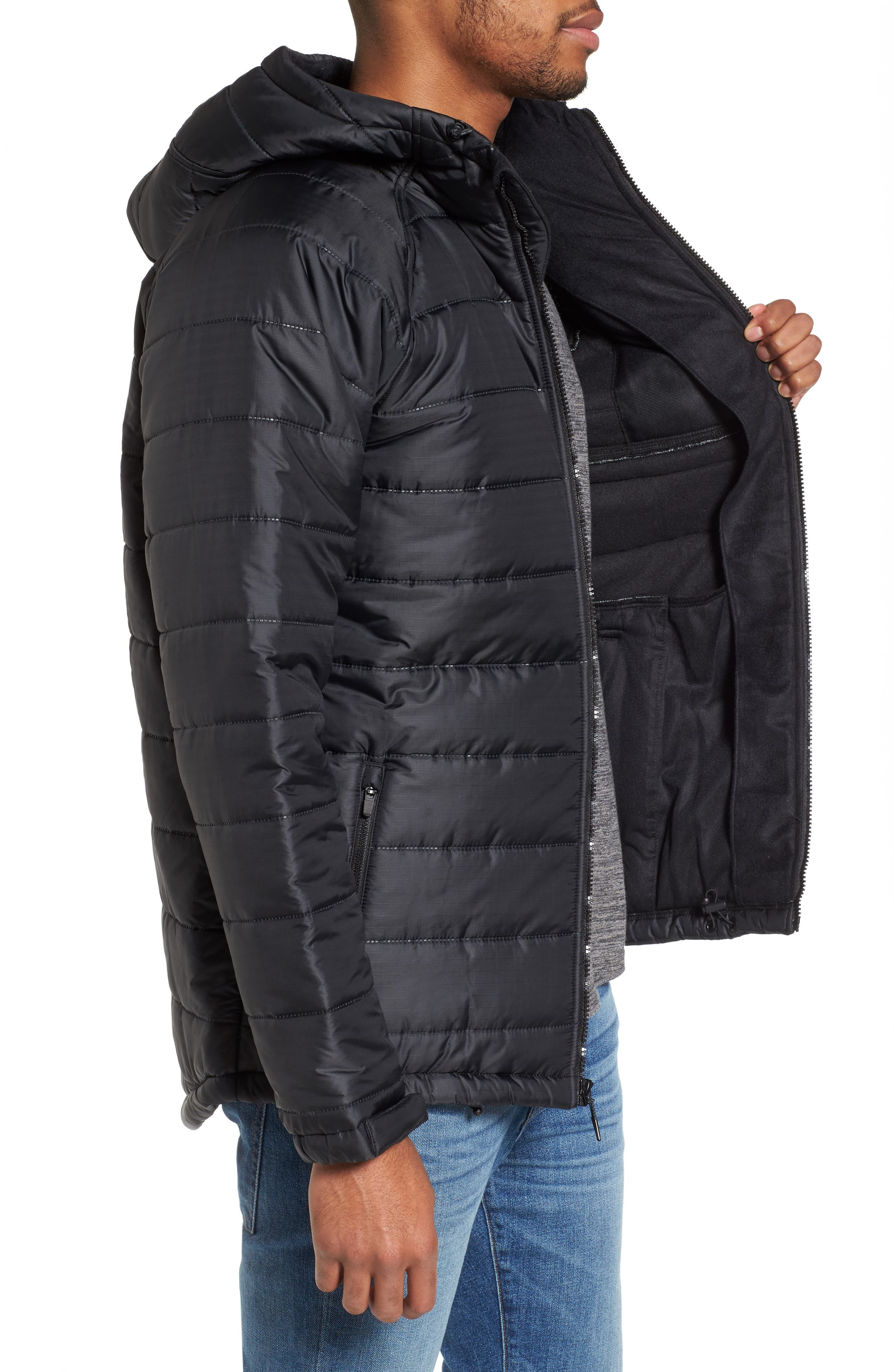 Protect Max Water-Repellent Quilted Jacket,                             Alternate thumbnail 3, color,                             010