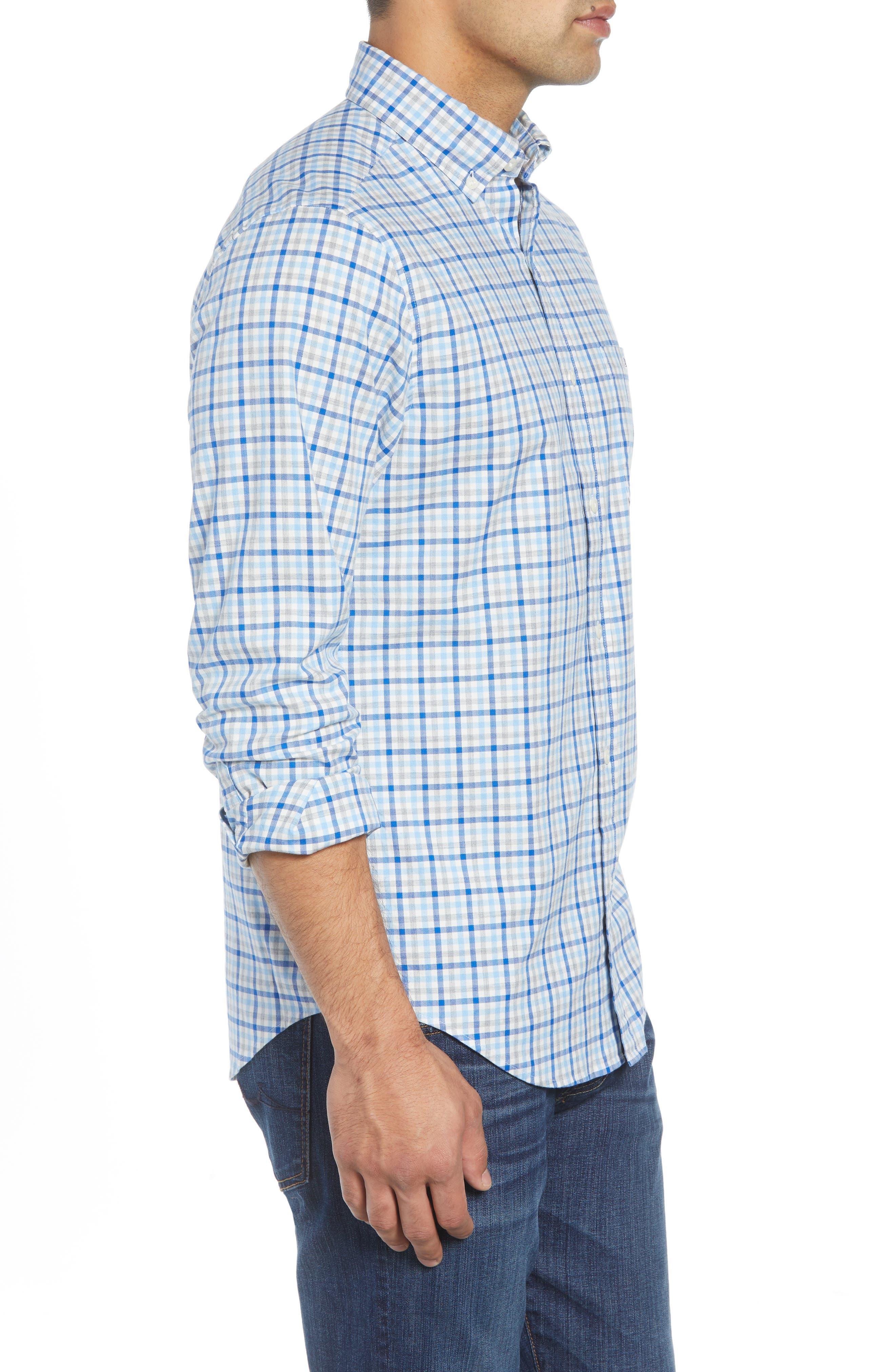 Pondview Regular Fit Check Sport Shirt,                             Alternate thumbnail 4, color,                             484