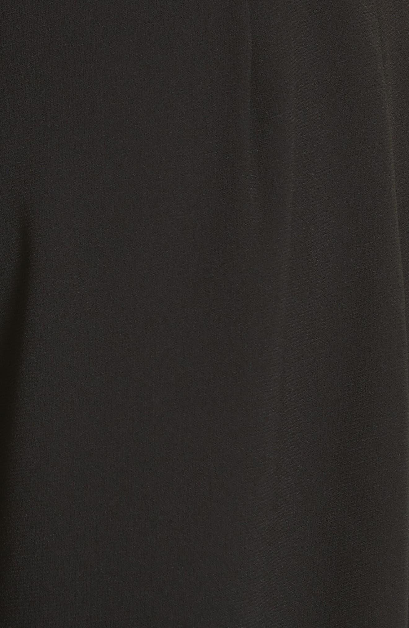 High Rise Harem Pants,                             Alternate thumbnail 5, color,                             POLO BLACK