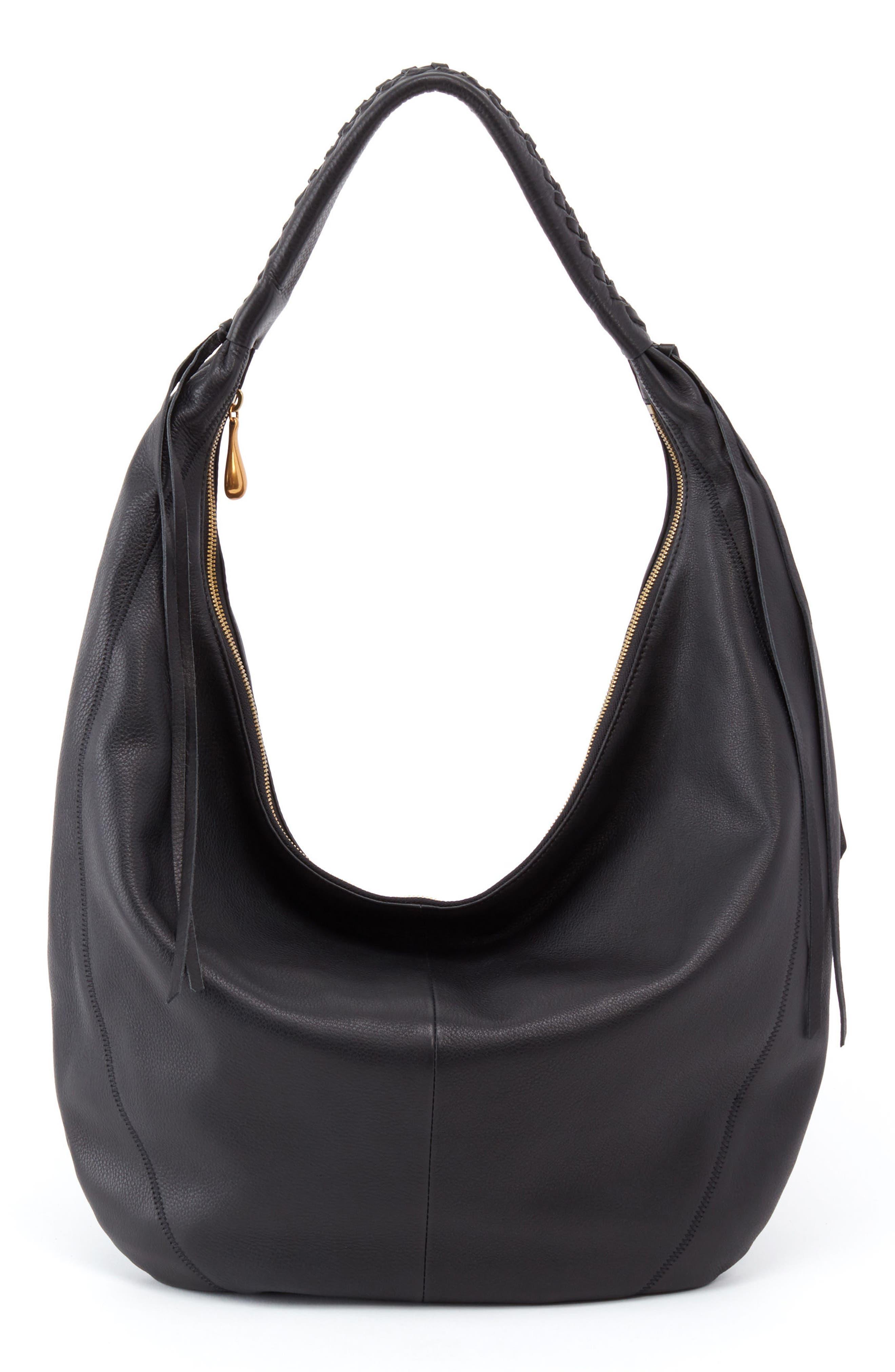Kindred Leather Shoulder Bag,                             Main thumbnail 1, color,                             001