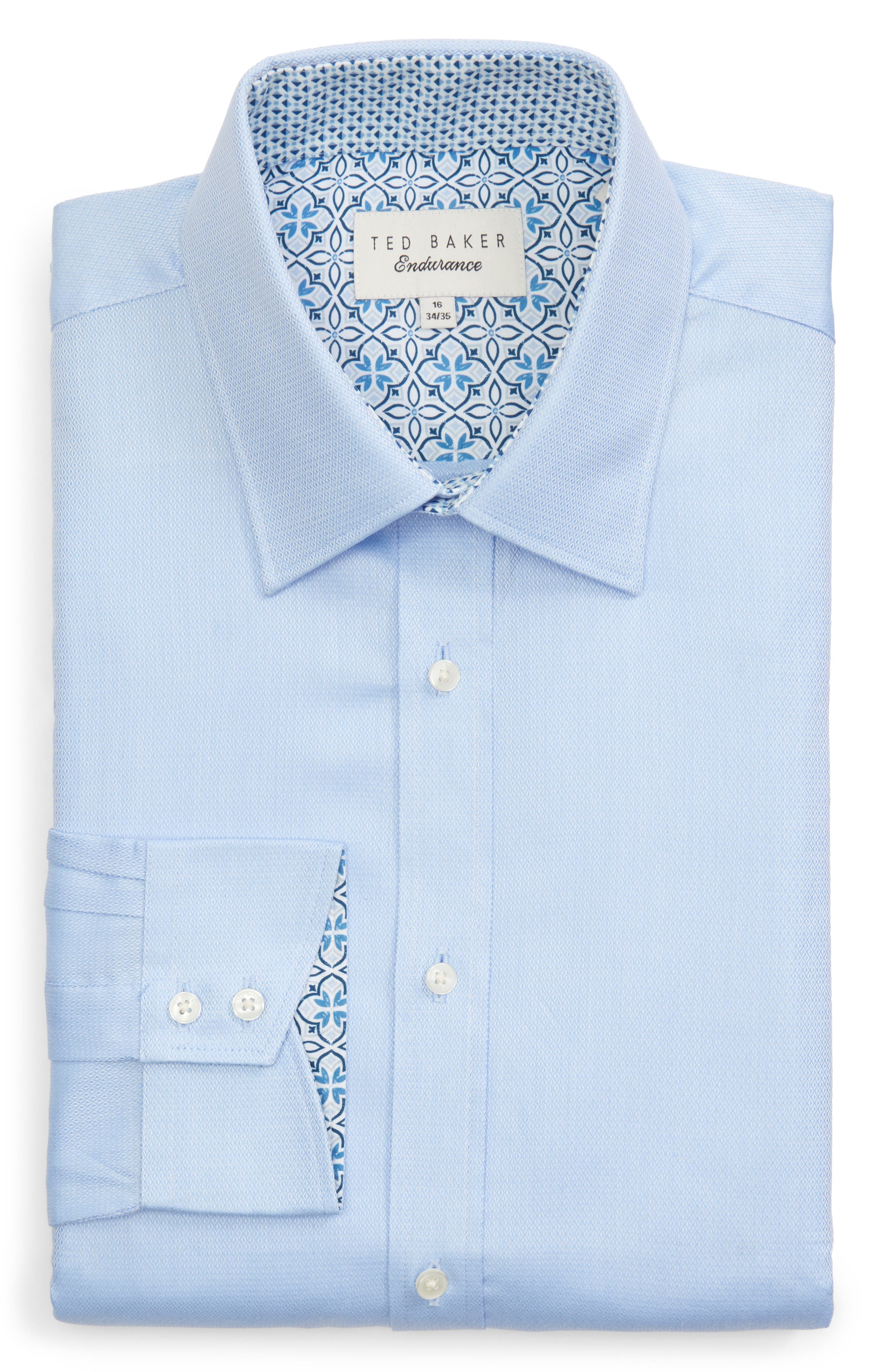 Chardo Trim Fit Floral Dress Shirt,                             Alternate thumbnail 5, color,                             030