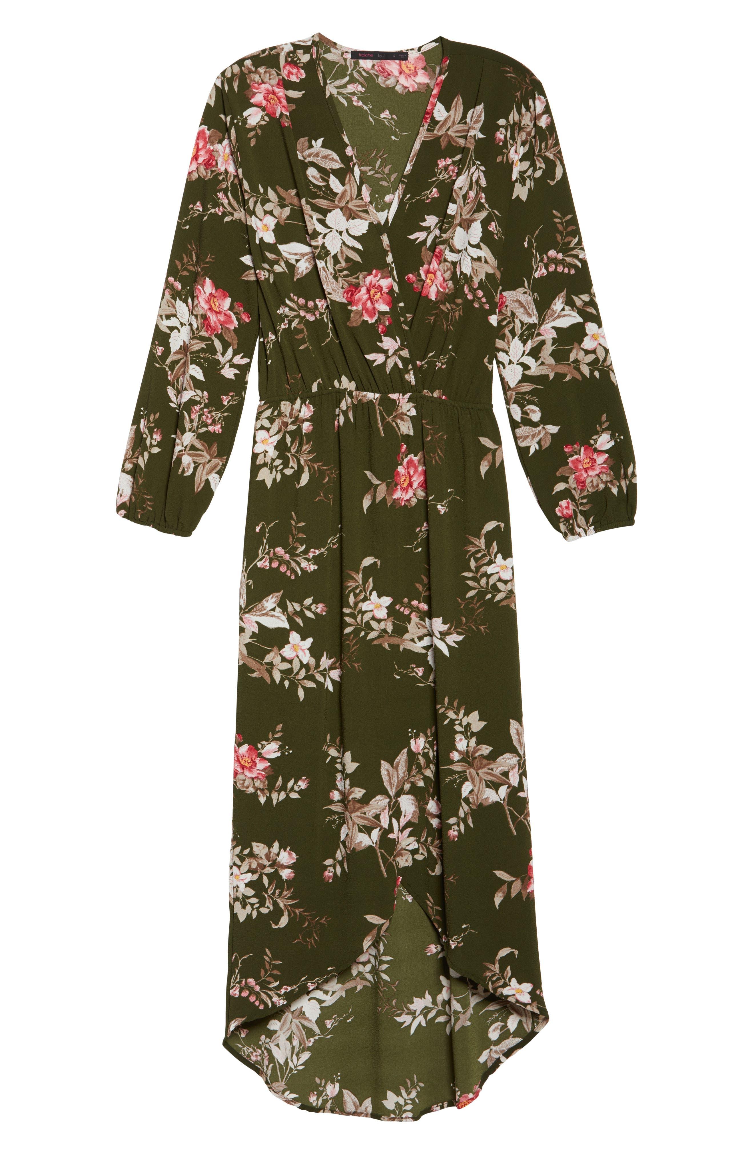 High/Low Maxi Dress,                             Alternate thumbnail 6, color,                             315
