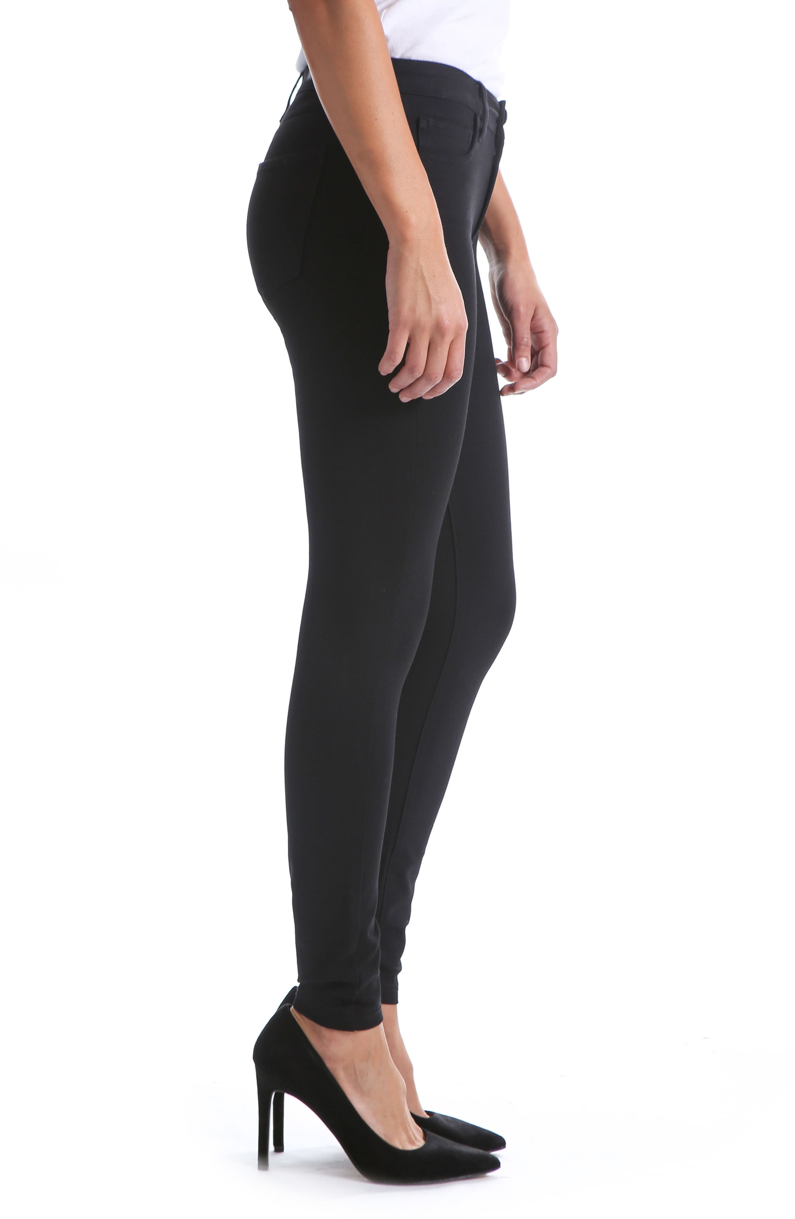 KUT FROM THE KLOTH,                             Donna High Waist Ponte Skinny Pants,                             Alternate thumbnail 3, color,                             002