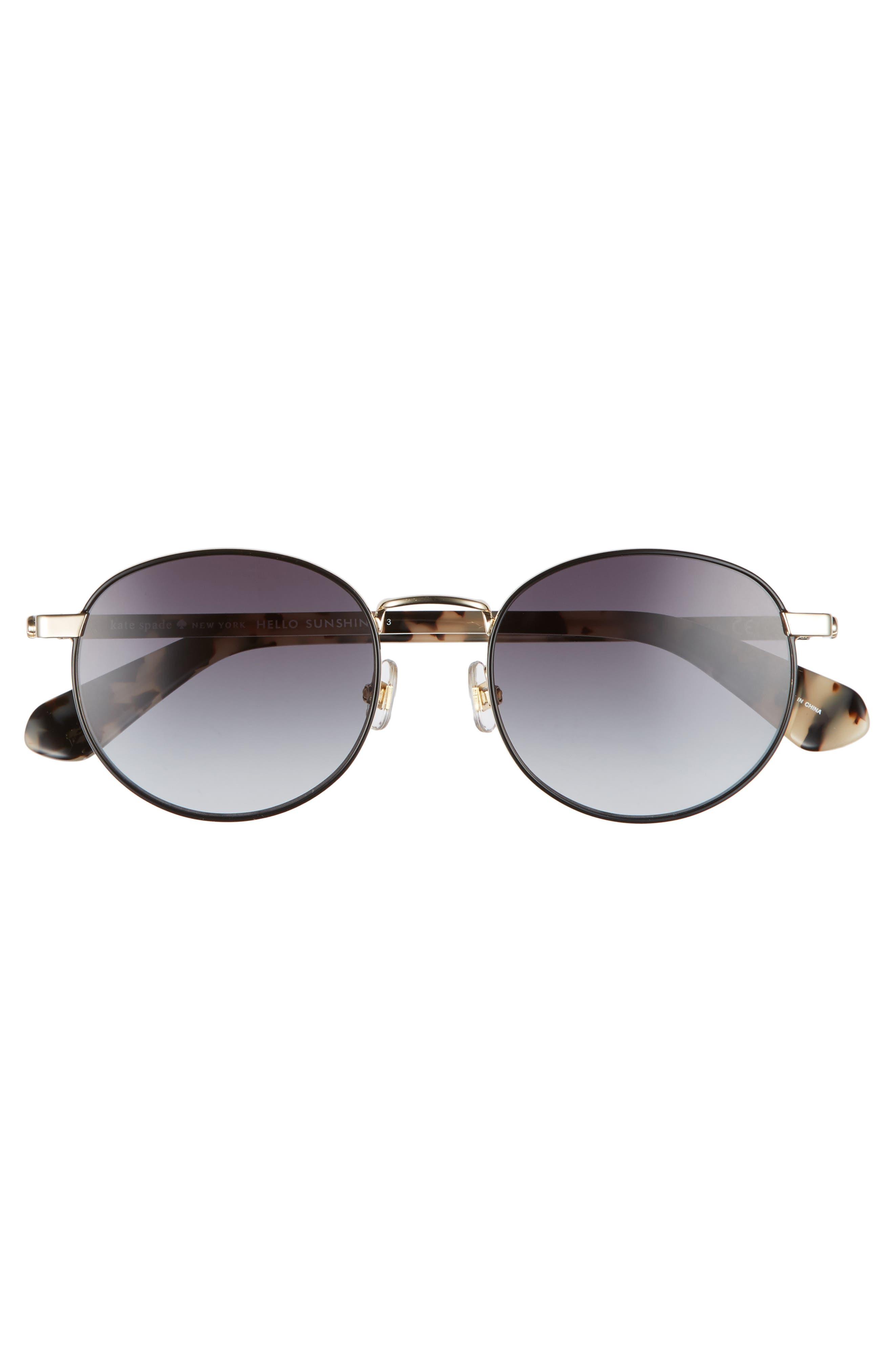 adelais 50mm round sunglasses,                             Alternate thumbnail 9, color,