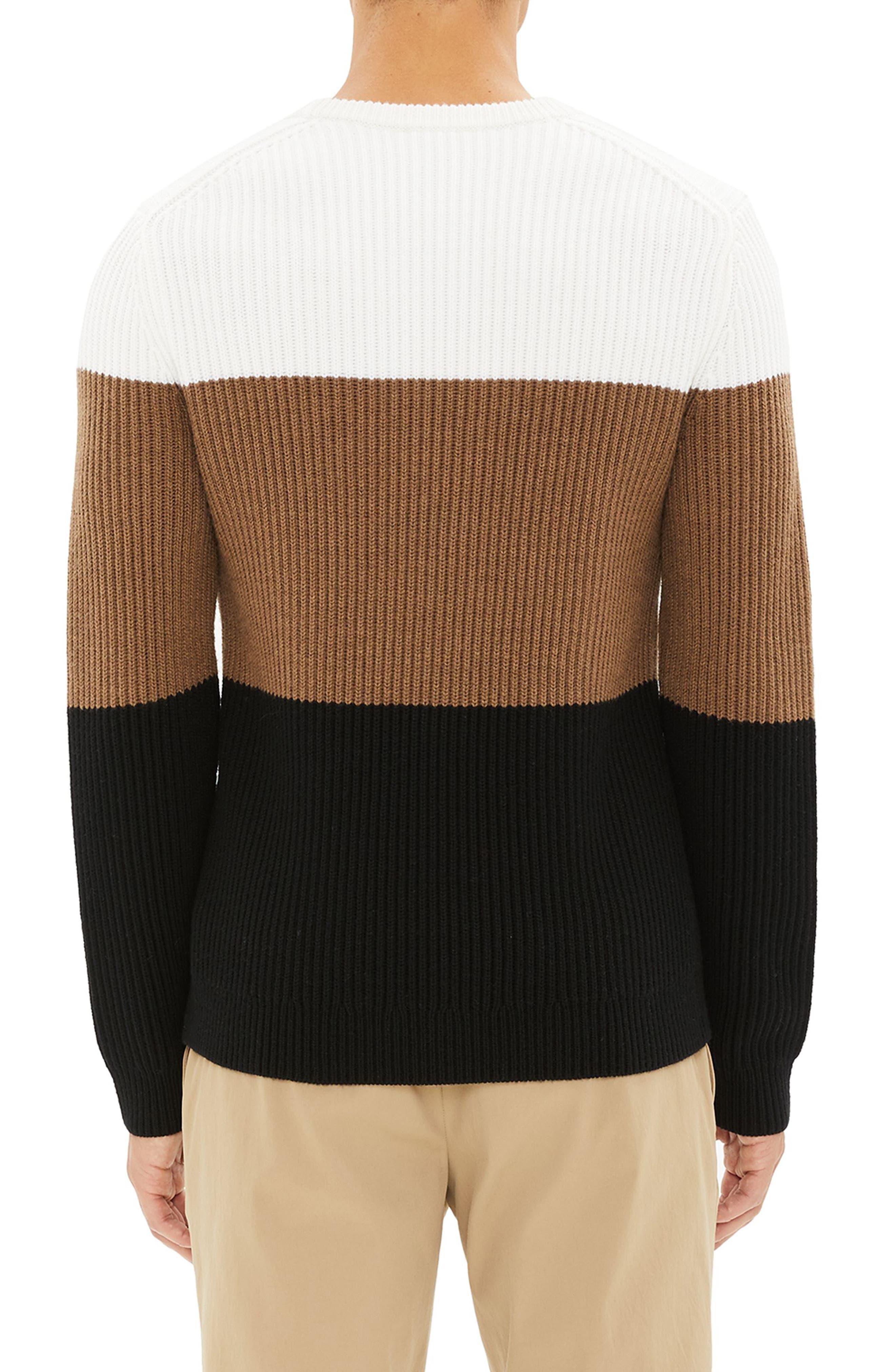 Romman Colorblock Merino Wool Sweater,                             Alternate thumbnail 2, color,                             110