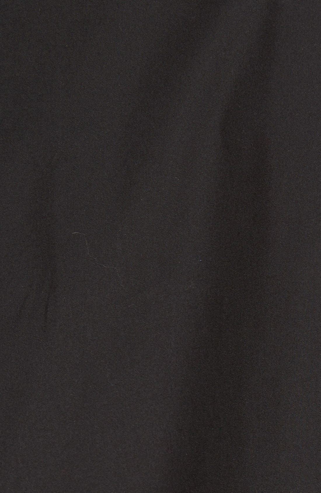 'Sylvain' Trim Fit Long Sleeve Sport Shirt,                             Alternate thumbnail 4, color,                             BLACK