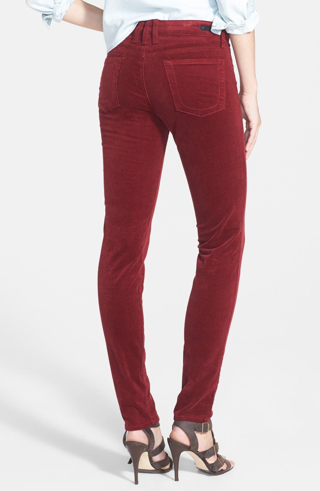'Diana' Stretch Corduroy Skinny Pants,                             Alternate thumbnail 95, color,