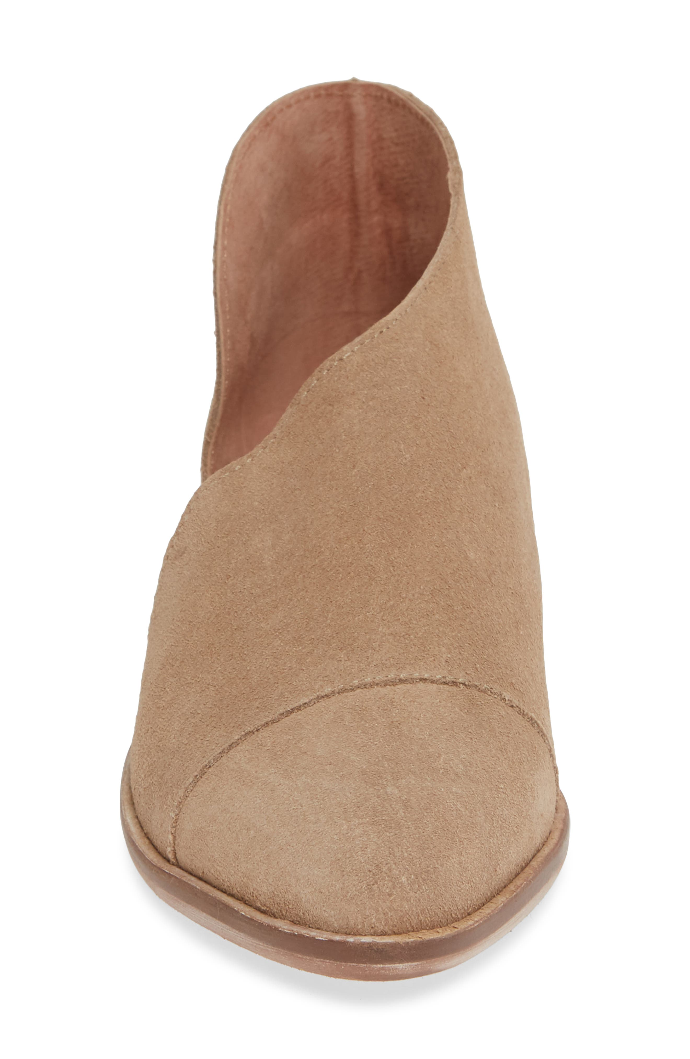 'Royale' Pointy Toe Flat,                             Alternate thumbnail 4, color,                             BEIGE SUEDE