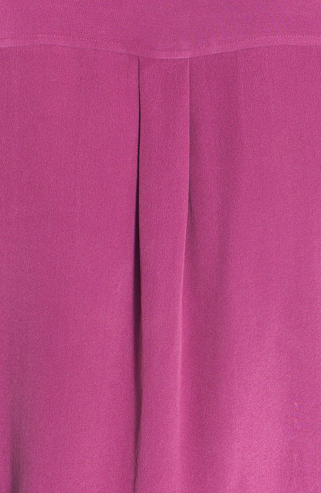 'Slim Signature' Sleeveless Silk Shirt,                             Alternate thumbnail 129, color,