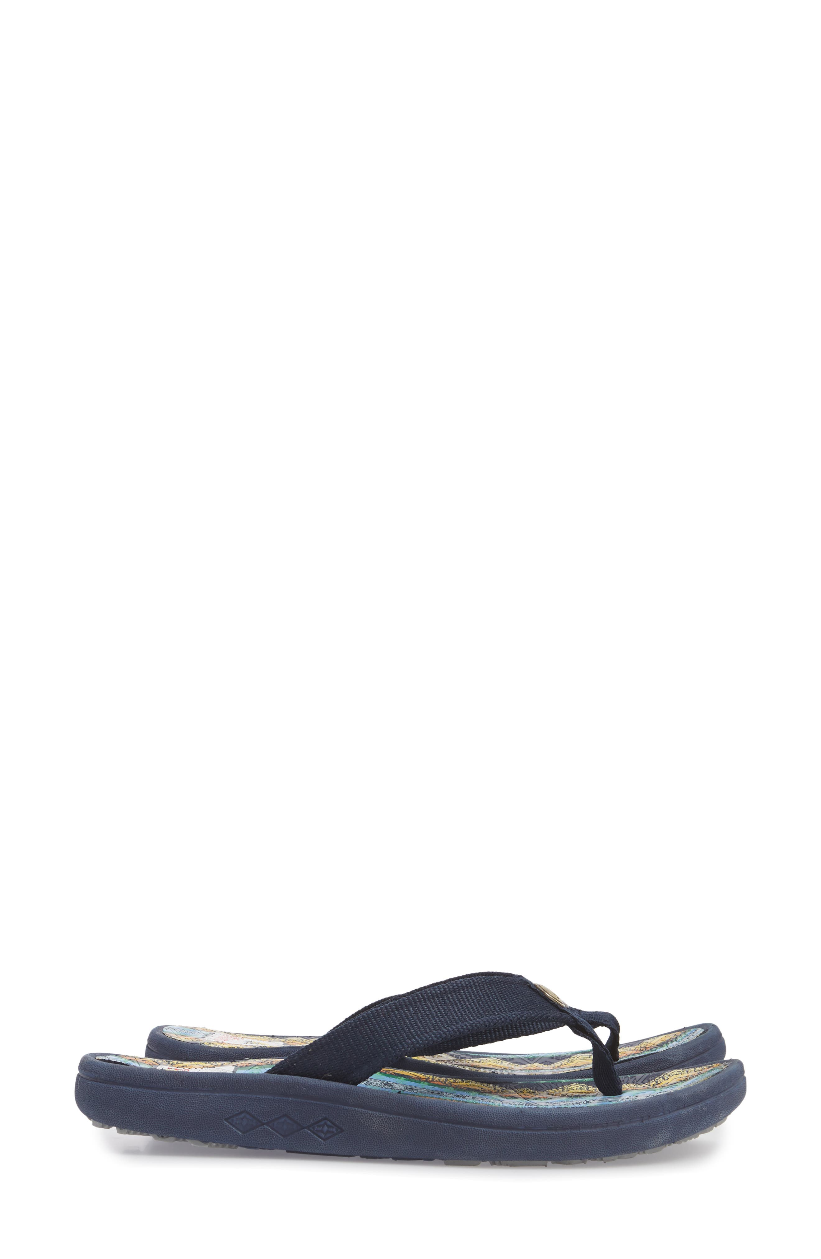 Pendleton American Treasures Flip Flop,                             Alternate thumbnail 4, color,                             NAVY