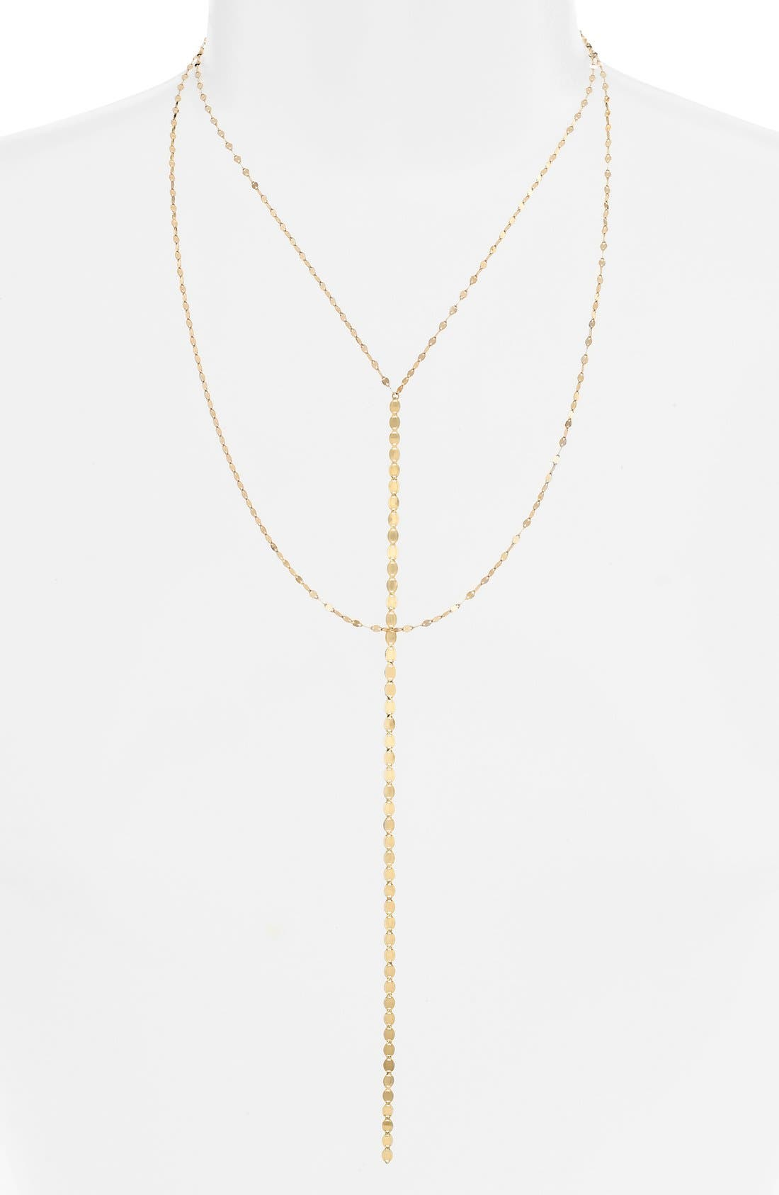 'Nude Blake' Multistrand Drop Necklace,                             Main thumbnail 1, color,                             YELLOW GOLD