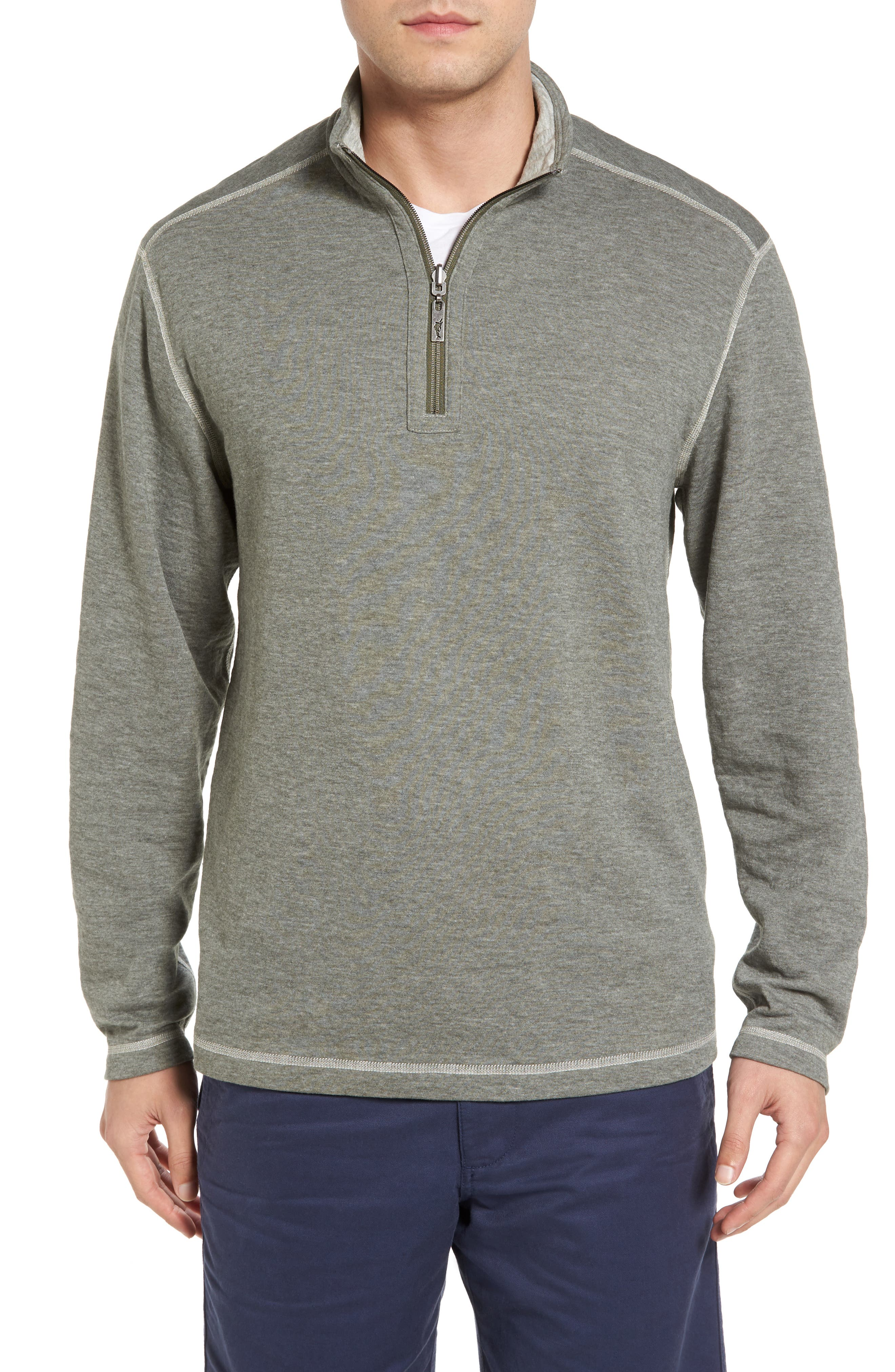 Sea Glass Reversible Quarter Zip Pullover,                             Alternate thumbnail 35, color,