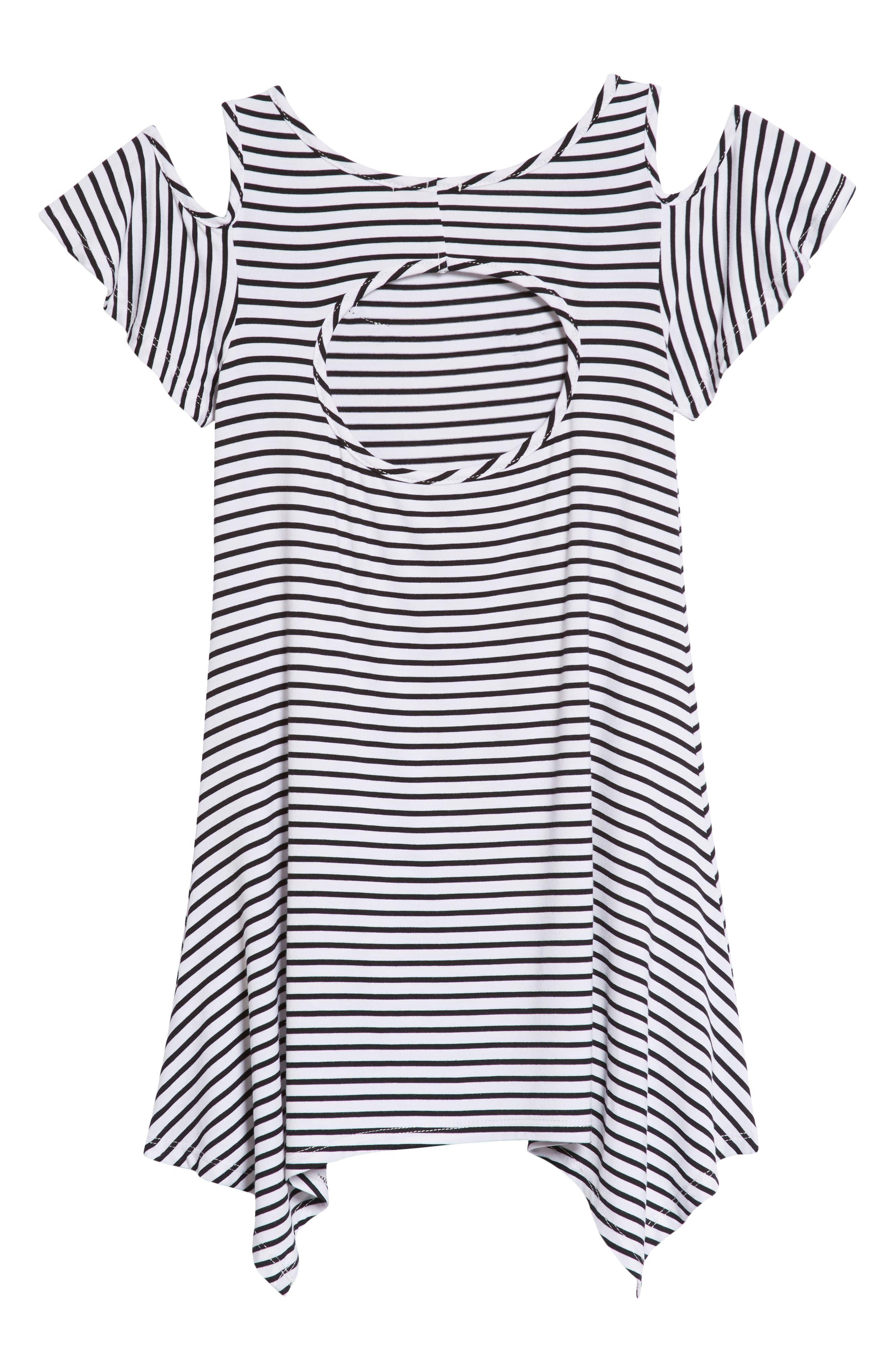 Appliqué Stripe Knit Dress,                             Alternate thumbnail 2, color,                             105