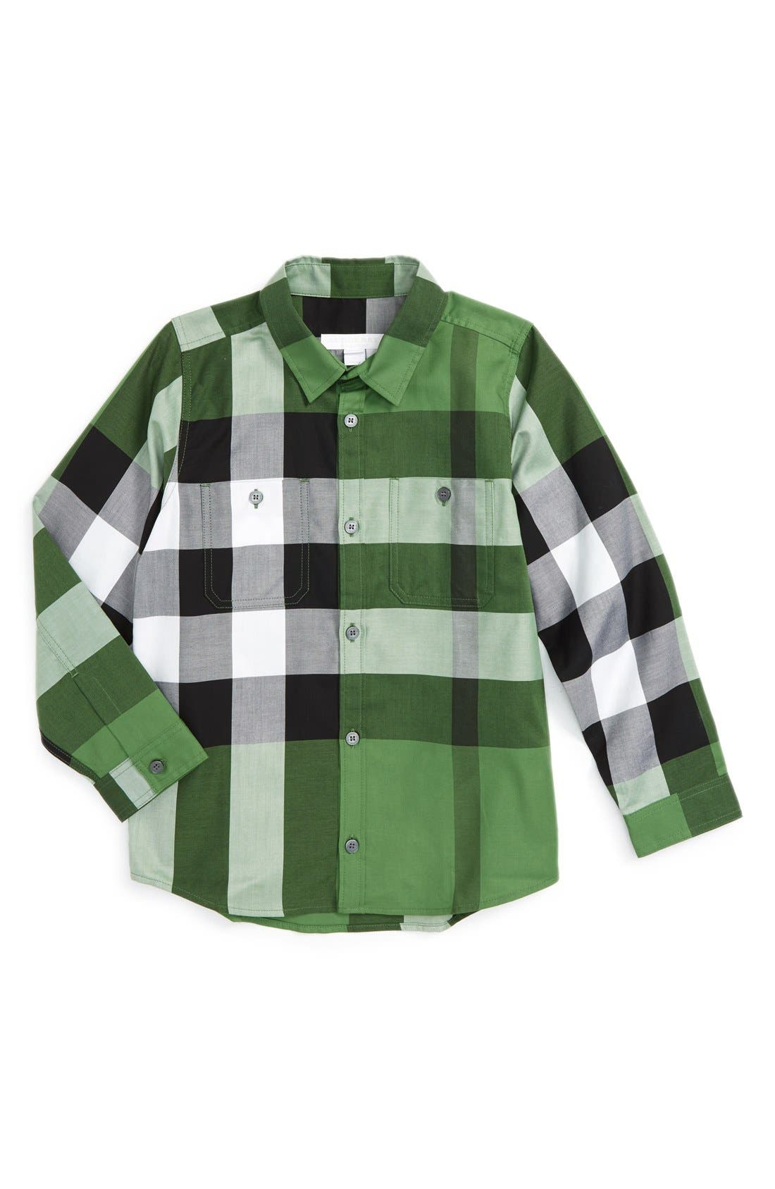 'Mini Camber' Check Long Sleeve Shirt,                             Main thumbnail 2, color,