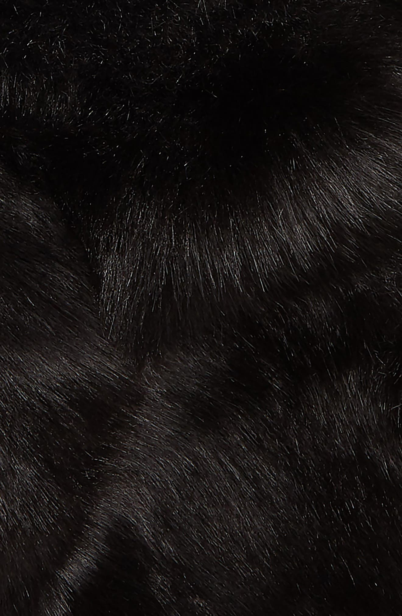 Faux Fur Scarf,                             Alternate thumbnail 4, color,                             BLACK