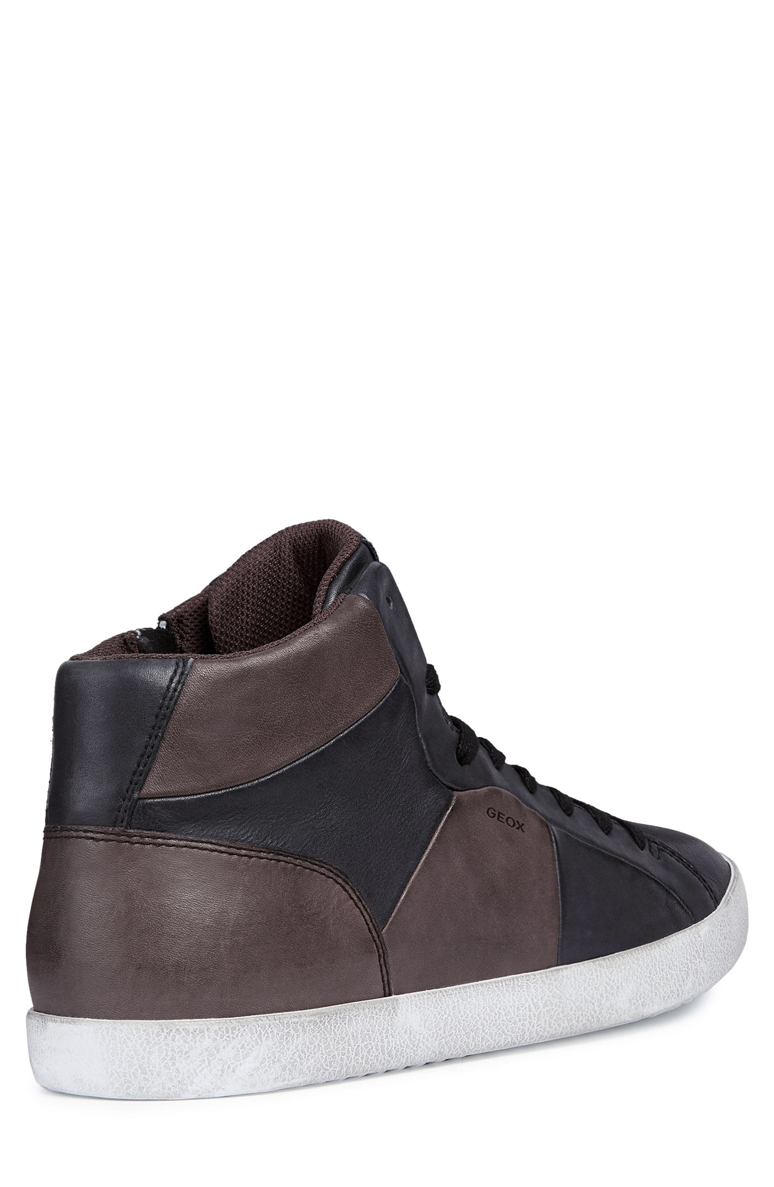 Smart 84 High Top Sneaker,                             Alternate thumbnail 2, color,                             BLACK/ COFFEE LEATHER