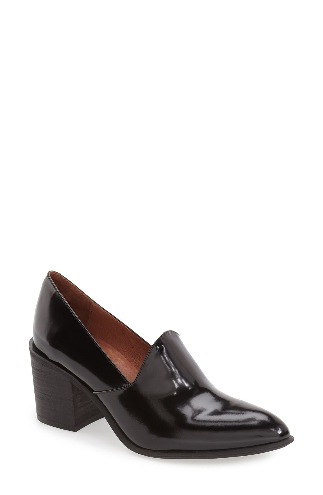JEFFREY CAMPBELL,                             'Dante' Pointy Toe Loafer Pump,                             Main thumbnail 1, color,                             001