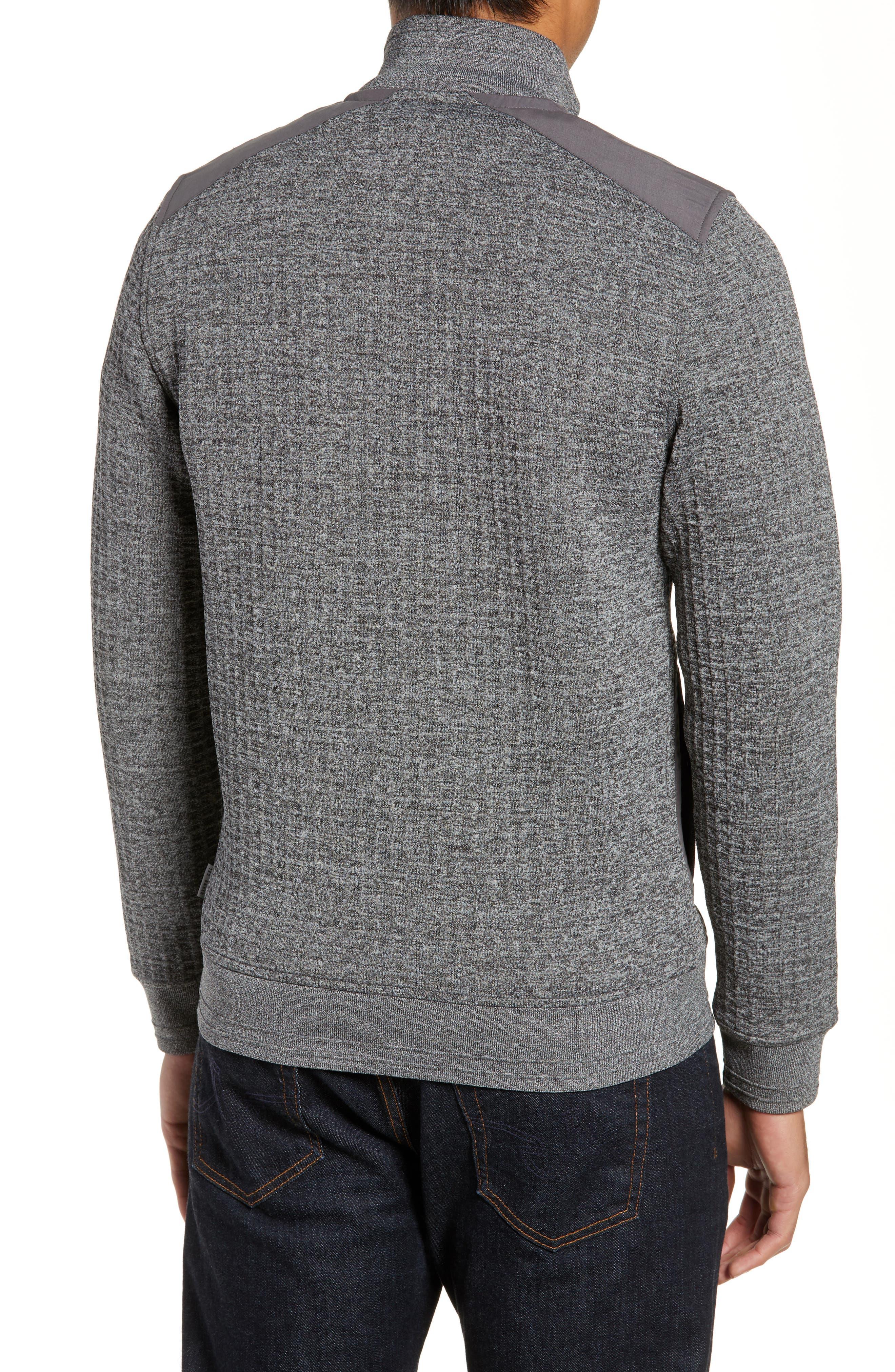Slim Fit Funnel Neck Sweatshirt,                             Alternate thumbnail 2, color,                             GREY