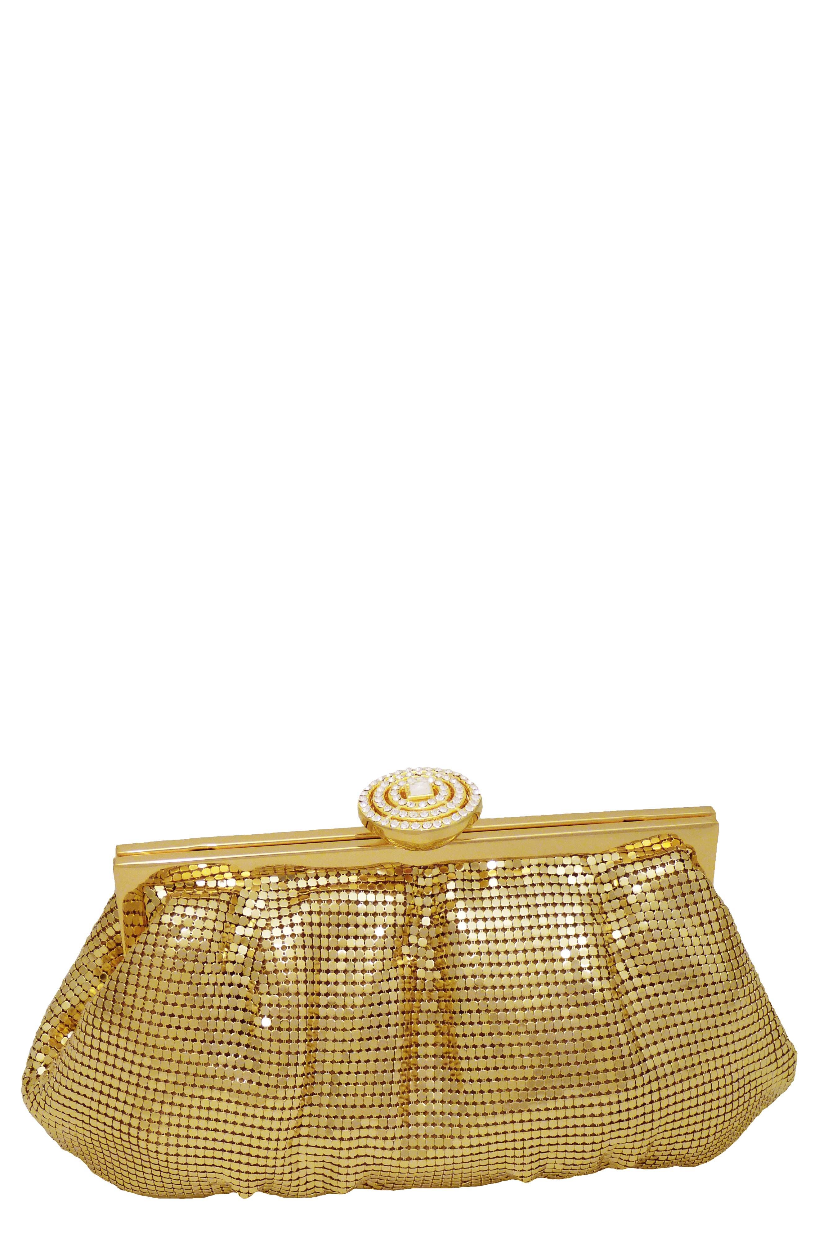 Marilyn Frame Clutch - Metallic in Gold