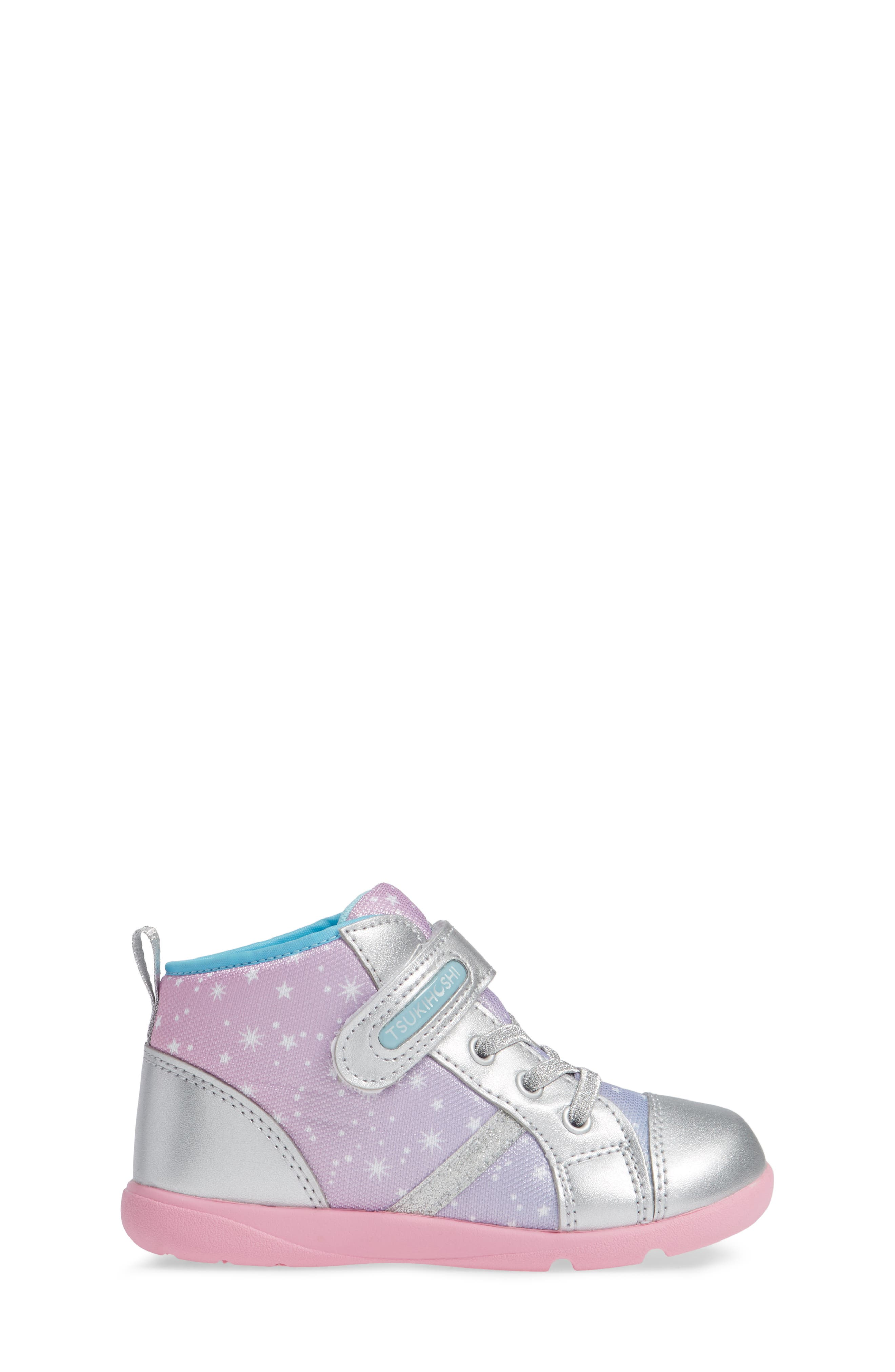 Star Washable Sneaker,                             Alternate thumbnail 3, color,                             SILVER/ PINK