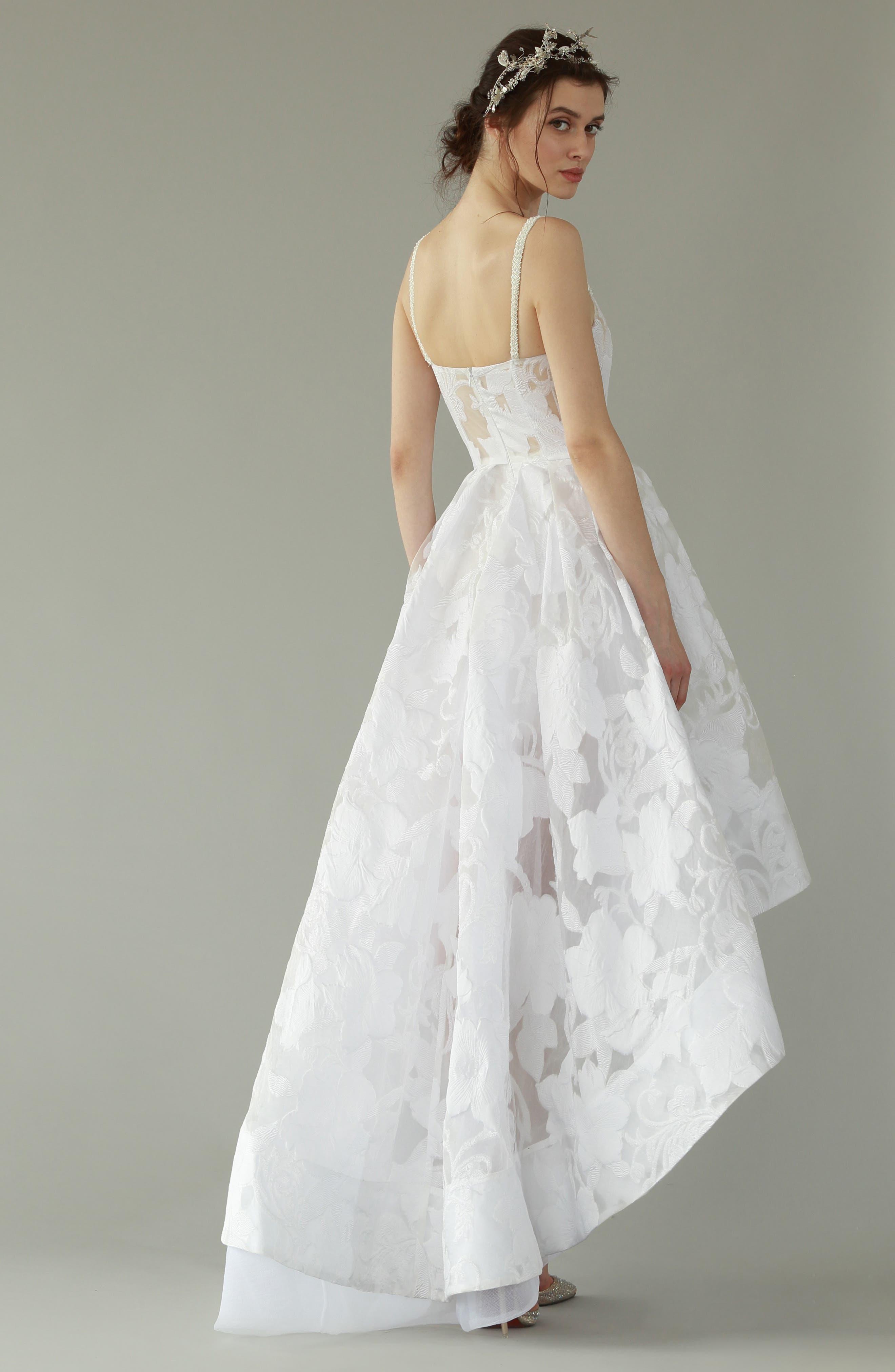 Boheme Floral High/Low Dress,                             Alternate thumbnail 7, color,                             WHITE