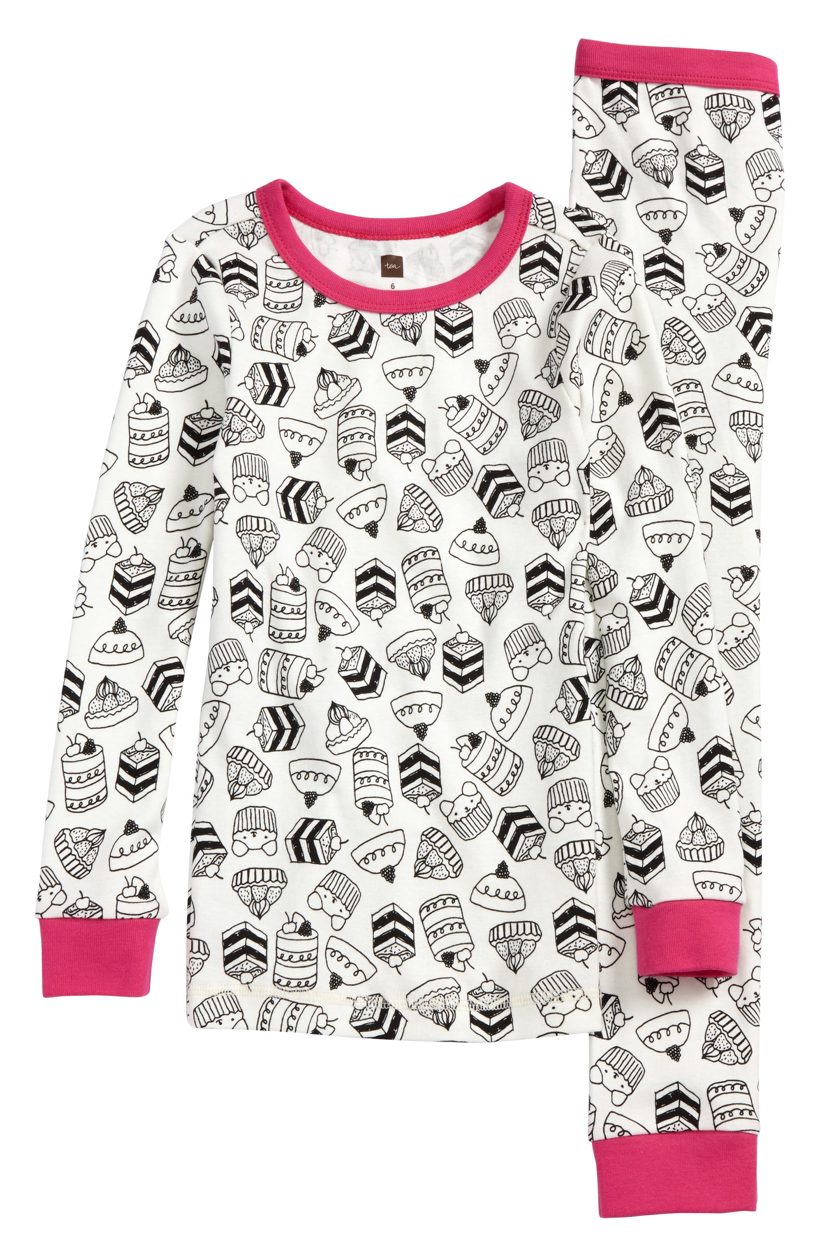 Bonnach Fitted Two-Piece Pajamas,                             Main thumbnail 1, color,