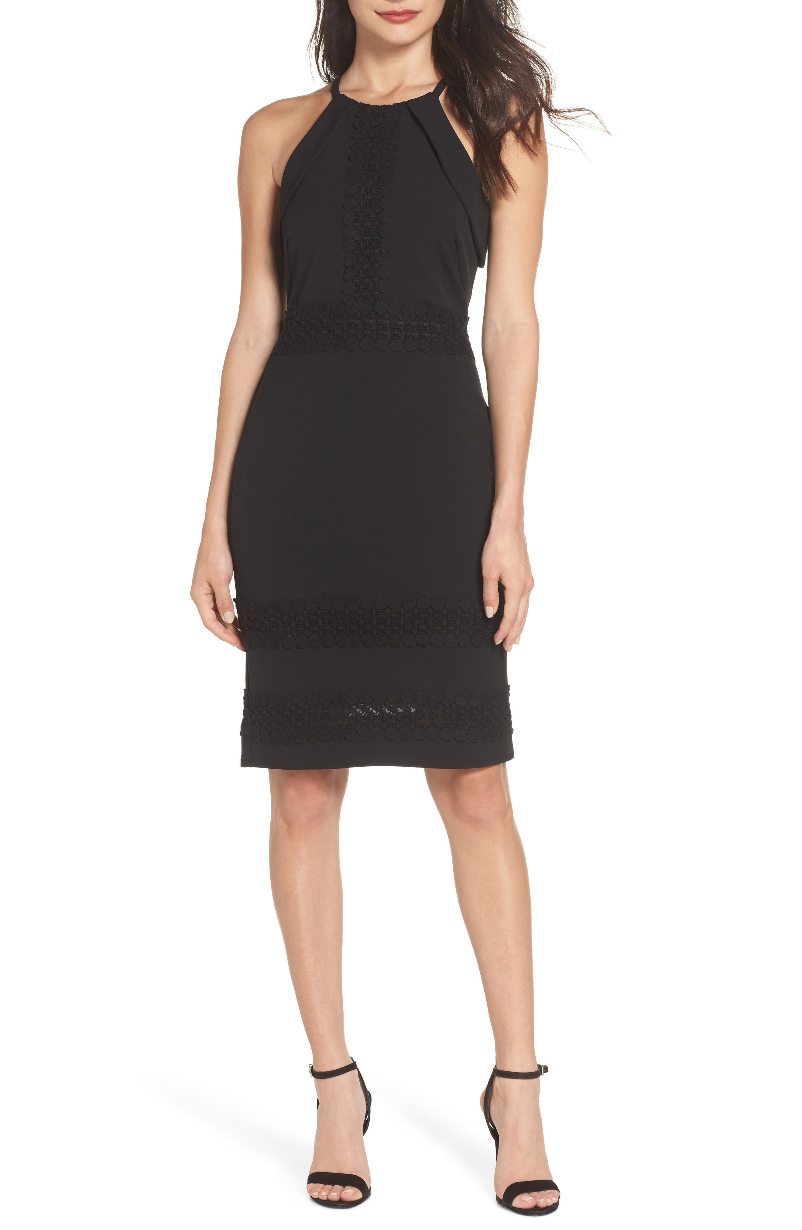 ADELYN RAE Daveena Halter Dress in Black