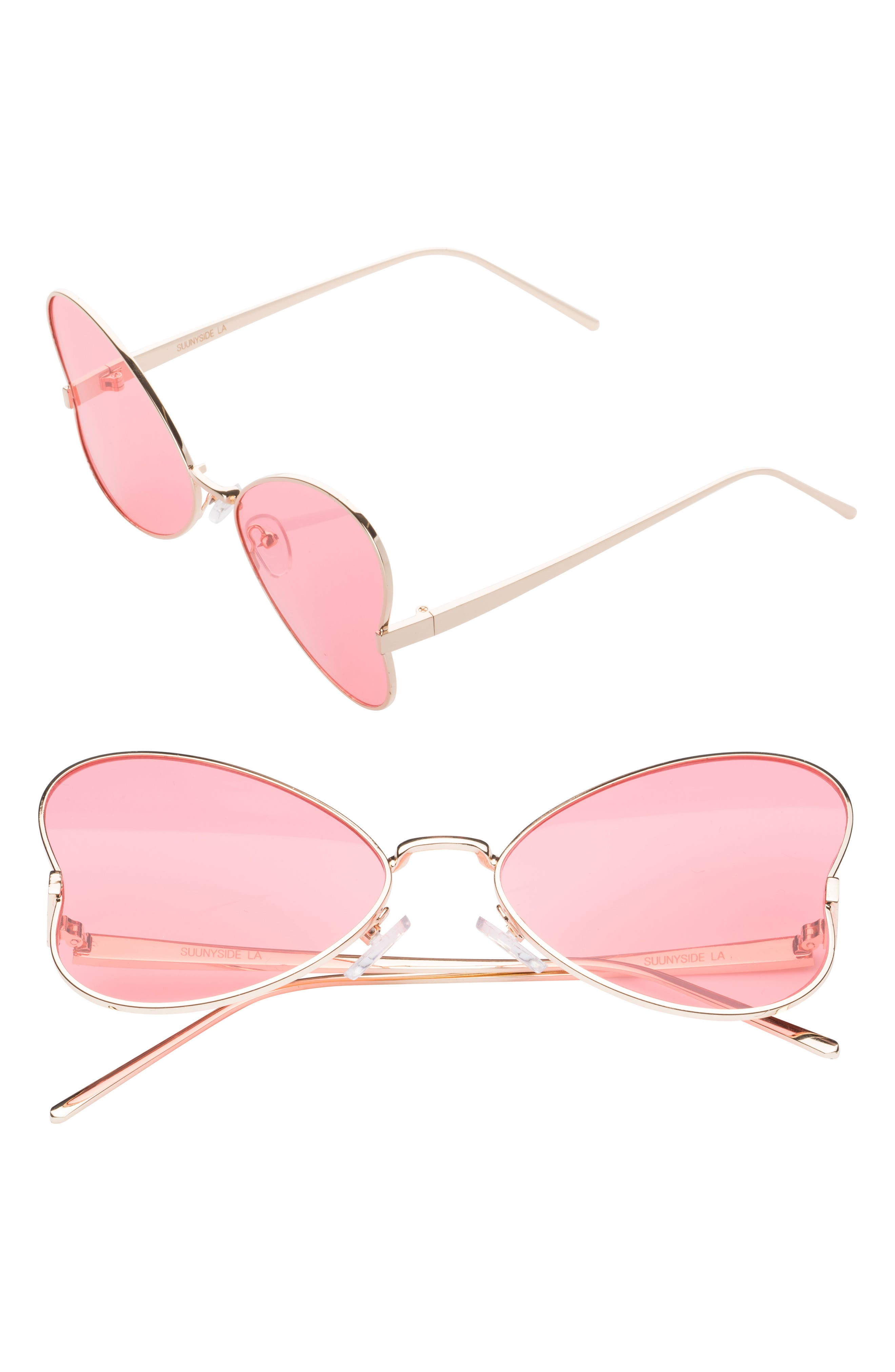56mm Heart Sunglasses,                         Main,                         color, 650