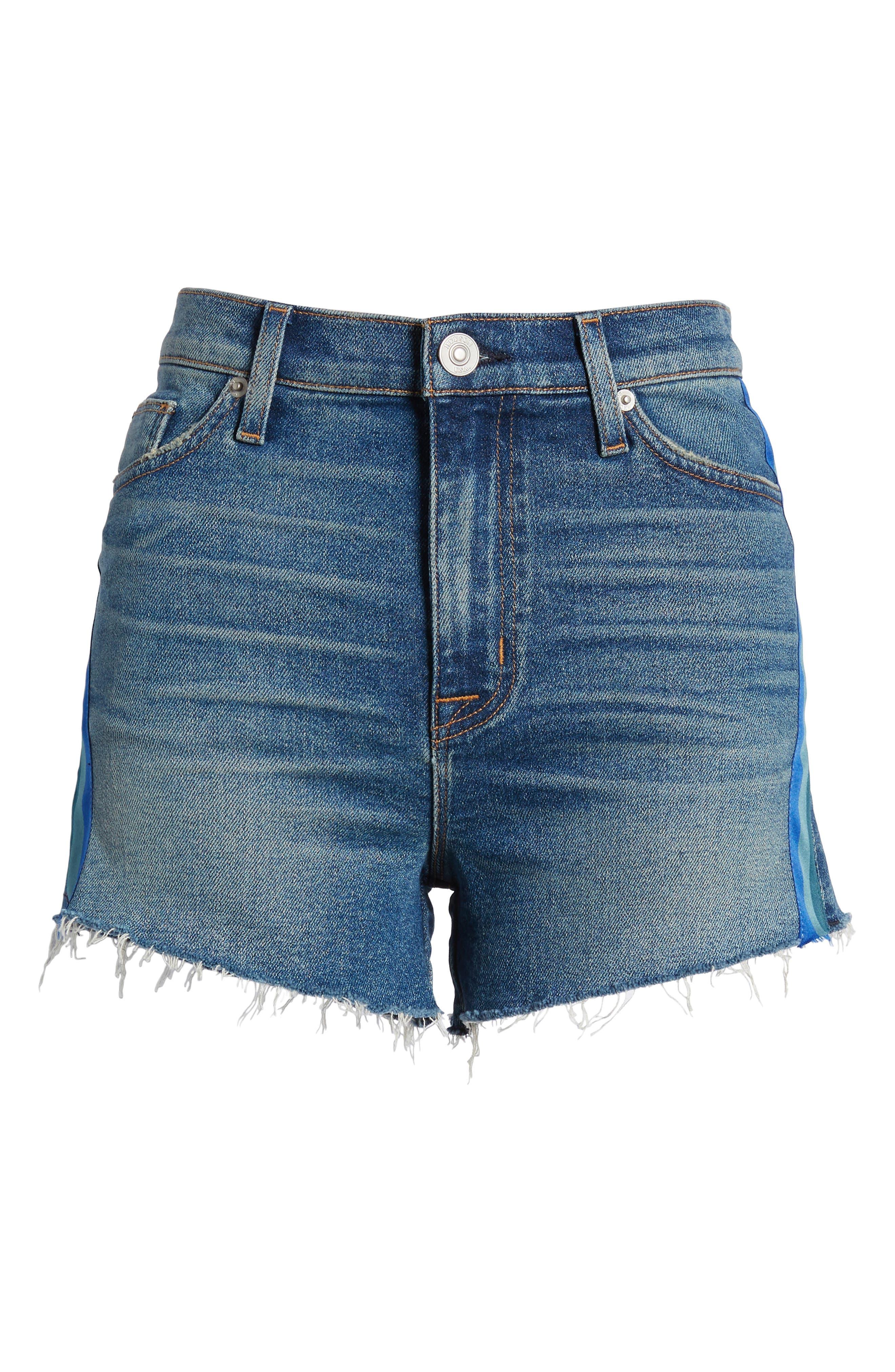 Sade Cutoff Denim Shorts,                             Alternate thumbnail 7, color,                             421