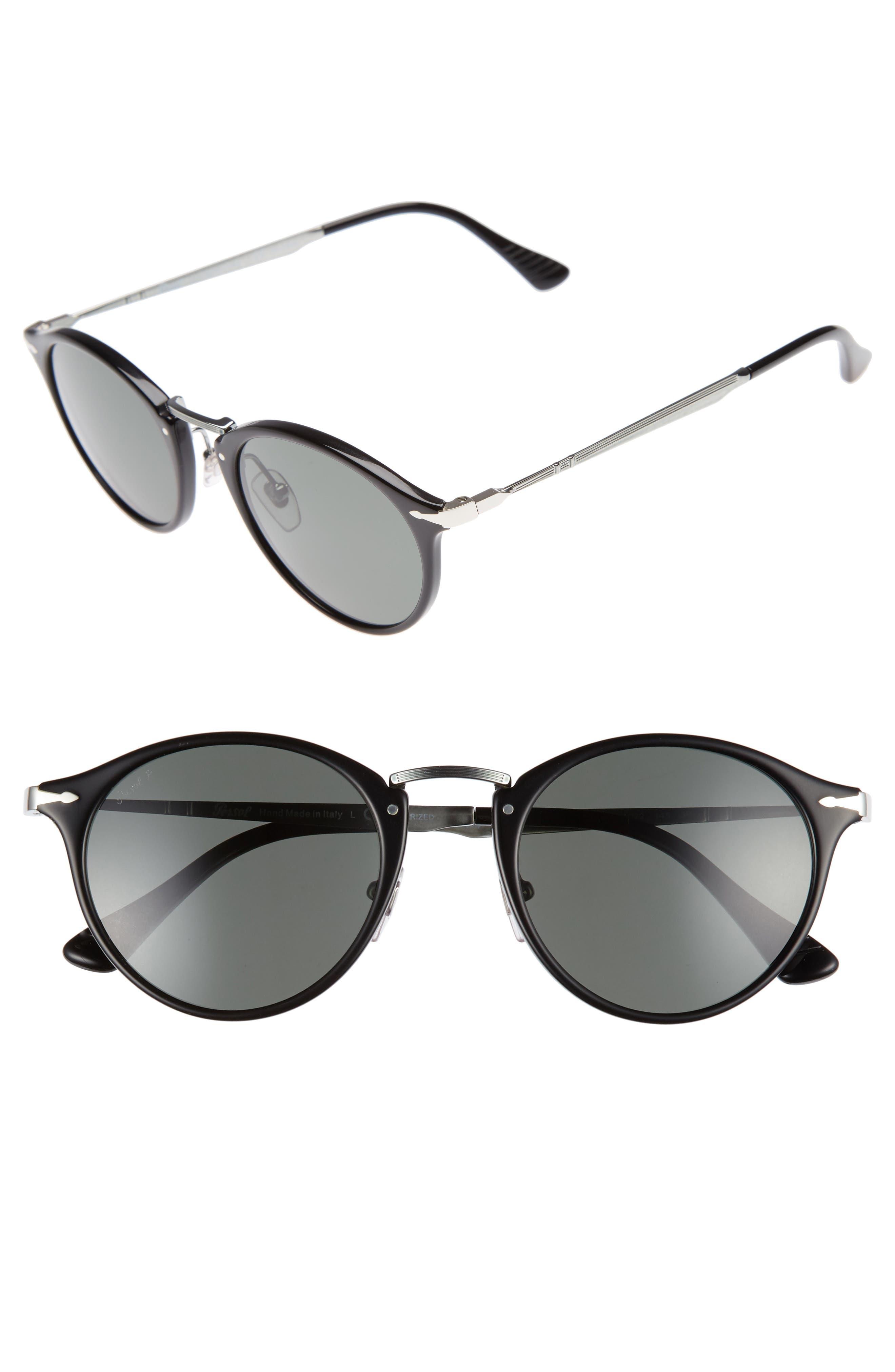 Sartoria Typewriter 51mm Polarized Sunglasses,                         Main,                         color, 001