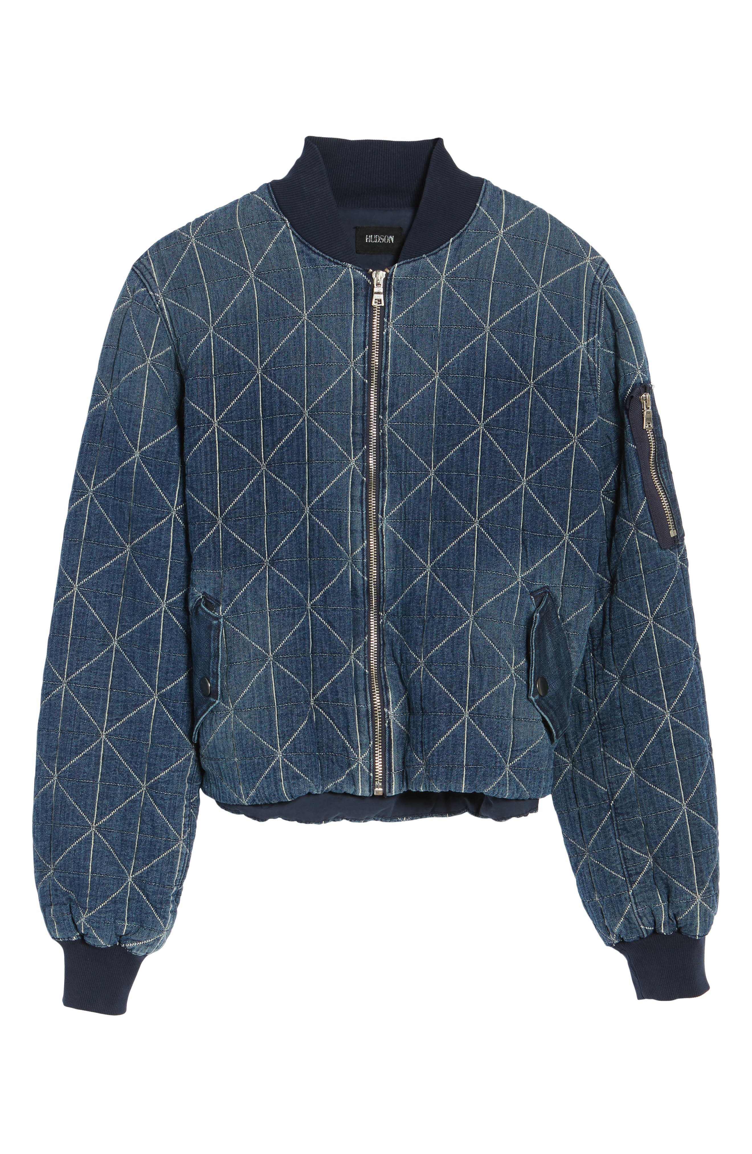Gene Quilted Bomber Jacket,                             Alternate thumbnail 5, color,                             420