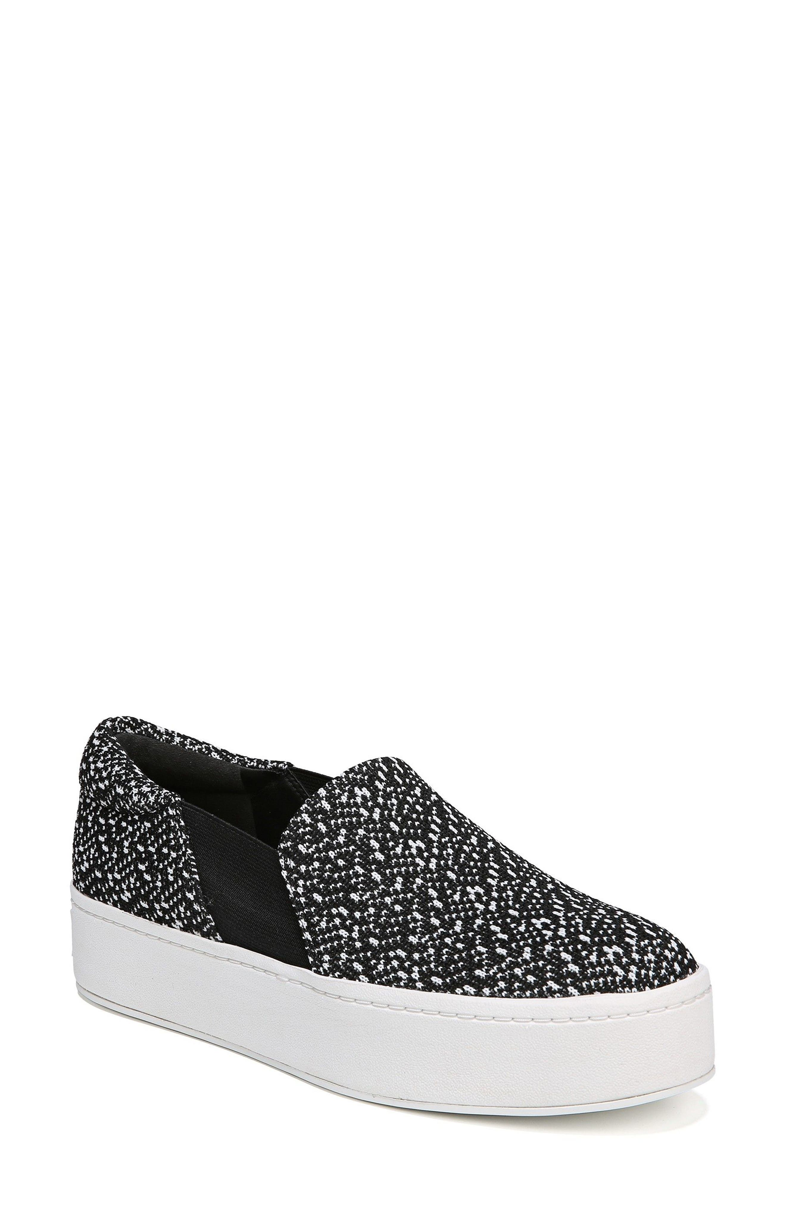 Warren Slip-On Sneaker,                             Main thumbnail 1, color,                             BLACK/ WHITE