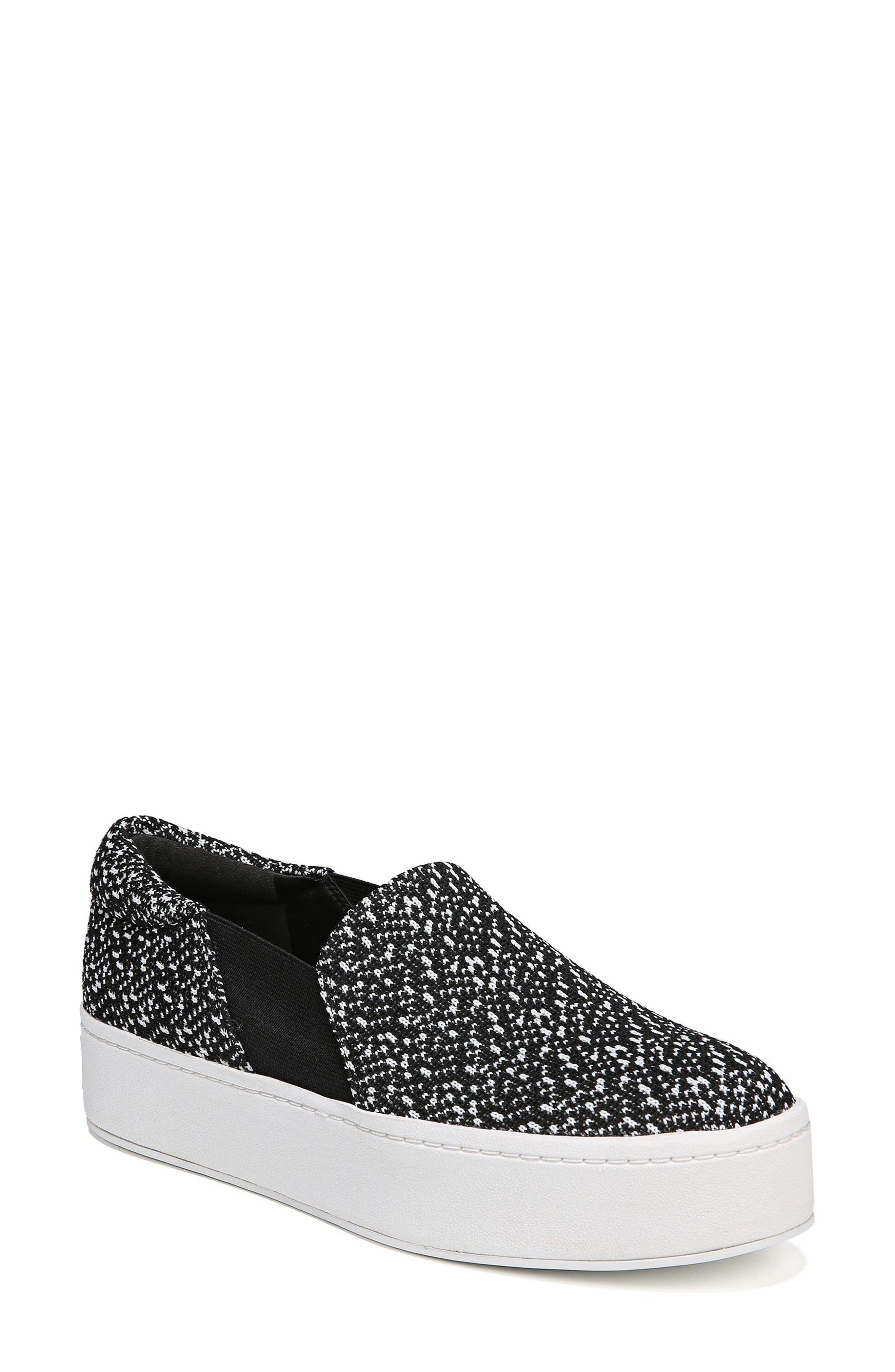 Warren Slip-On Sneaker,                         Main,                         color, BLACK/ WHITE