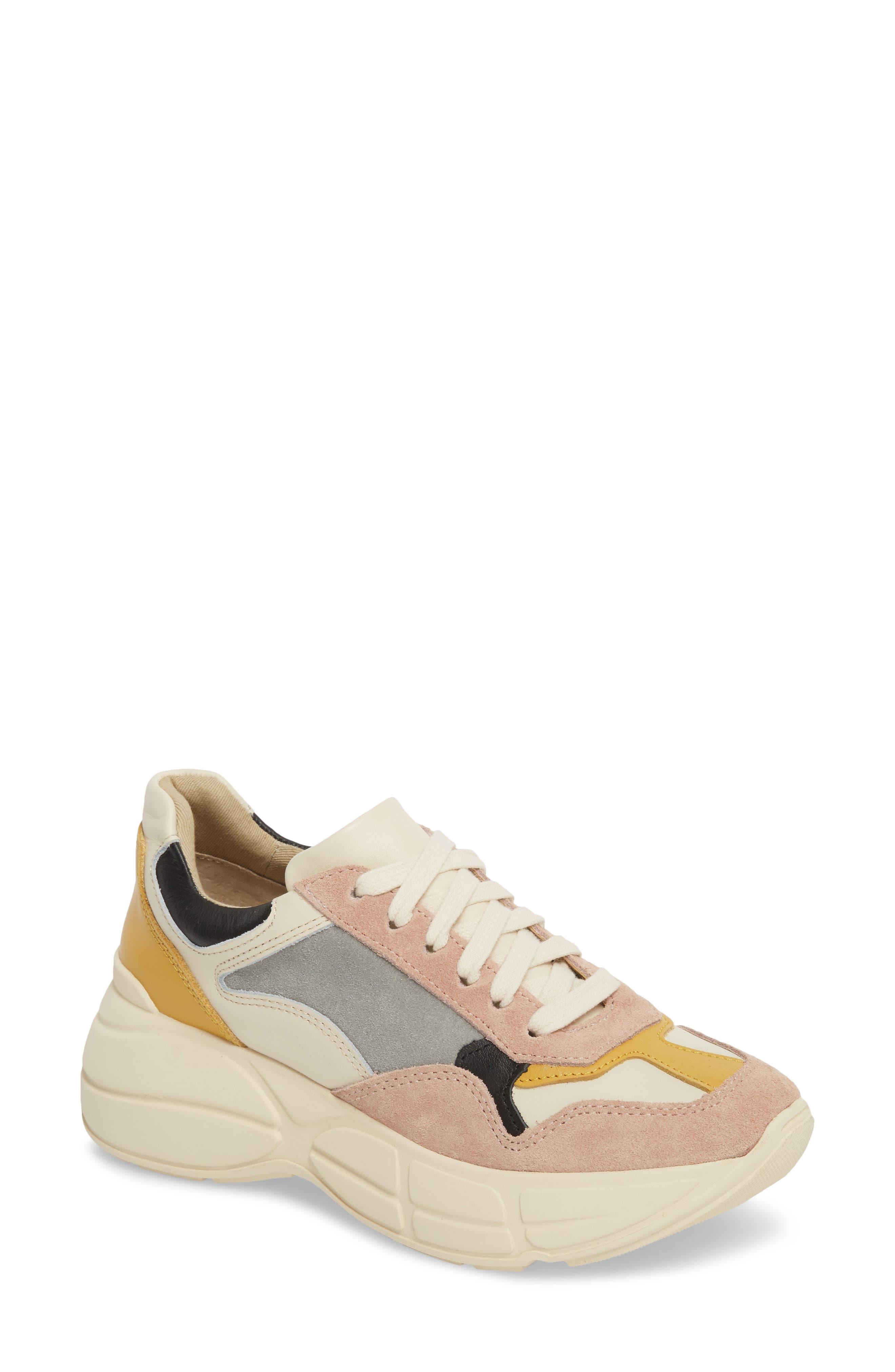 Memory Platform Wedge Sneaker,                             Main thumbnail 1, color,                             PINK MULTI